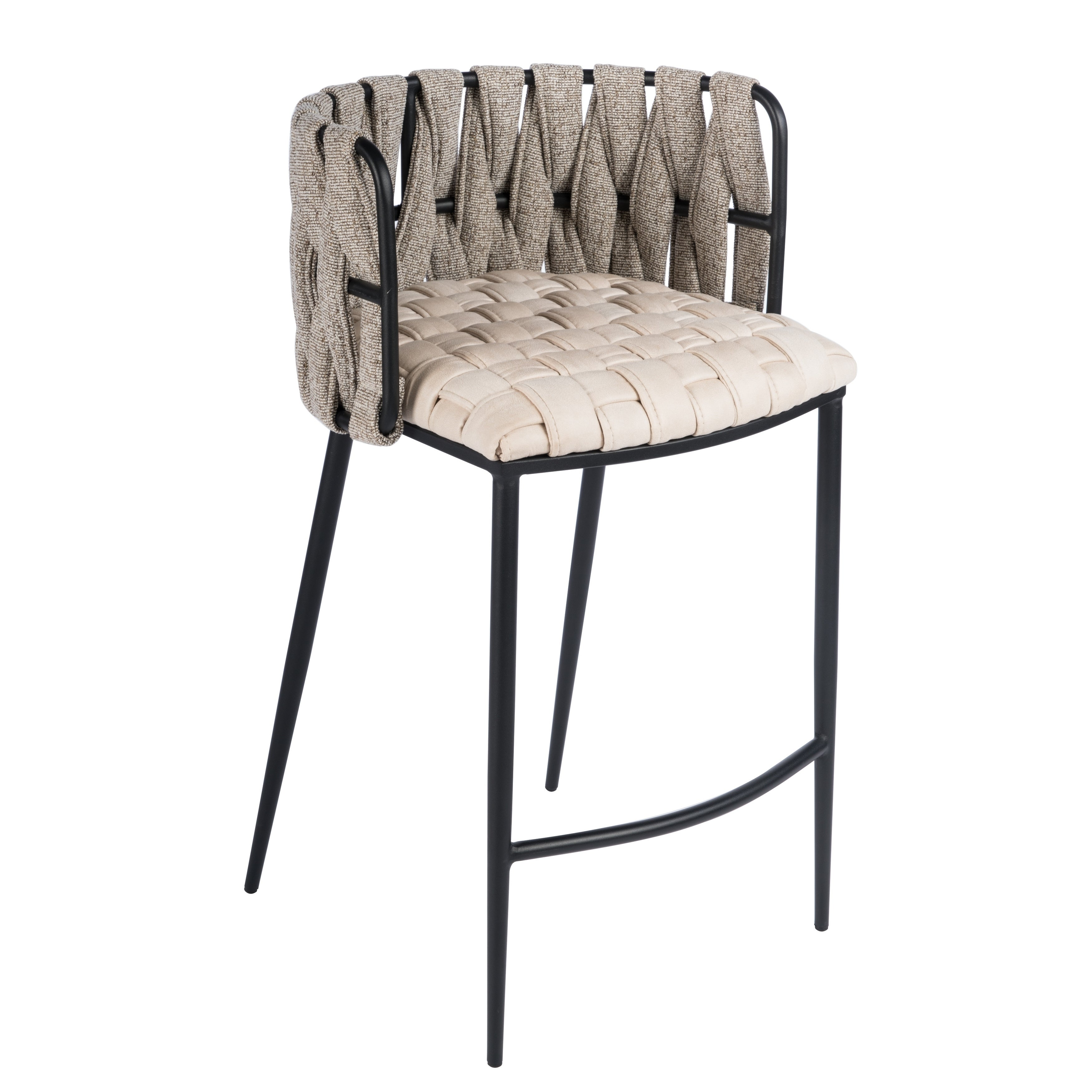Statements By J Milano Counter Chair Beige 35 Inch Tall
