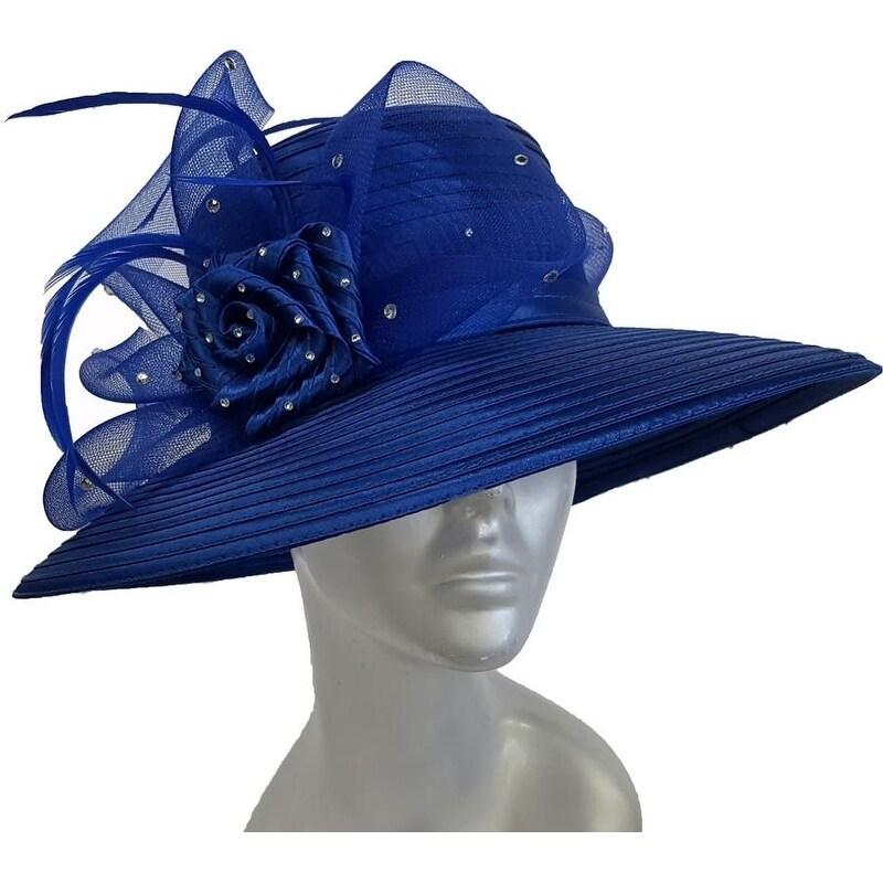ec0b703c43177 Shop Satin Ribbon Rhinestone Dressy Kentucky Derby Church Hat - Free  Shipping Today - Overstock - 27555543