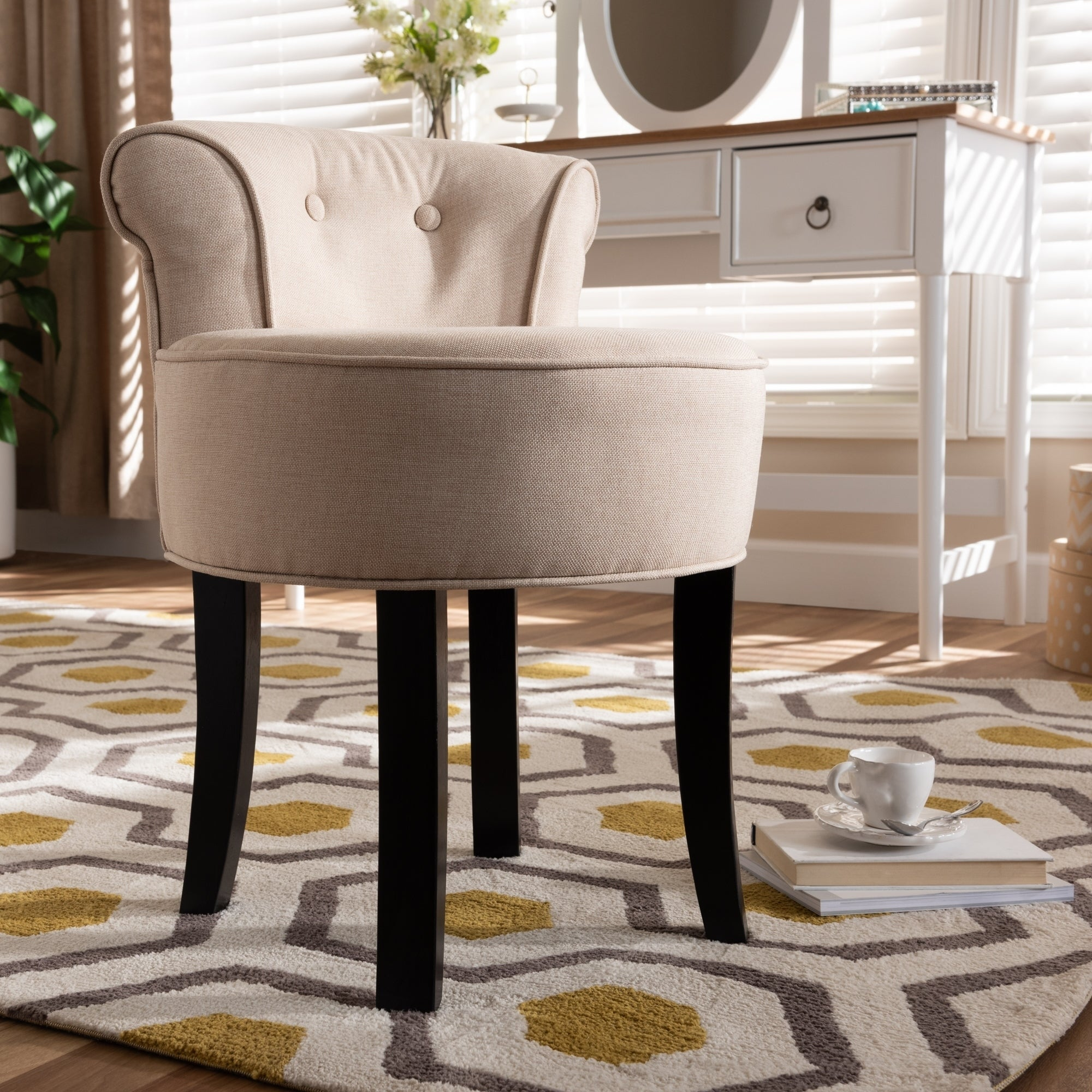 Small Accent Chairs.Baxton Studio Traditional Fabric Wood Small Accent Chair