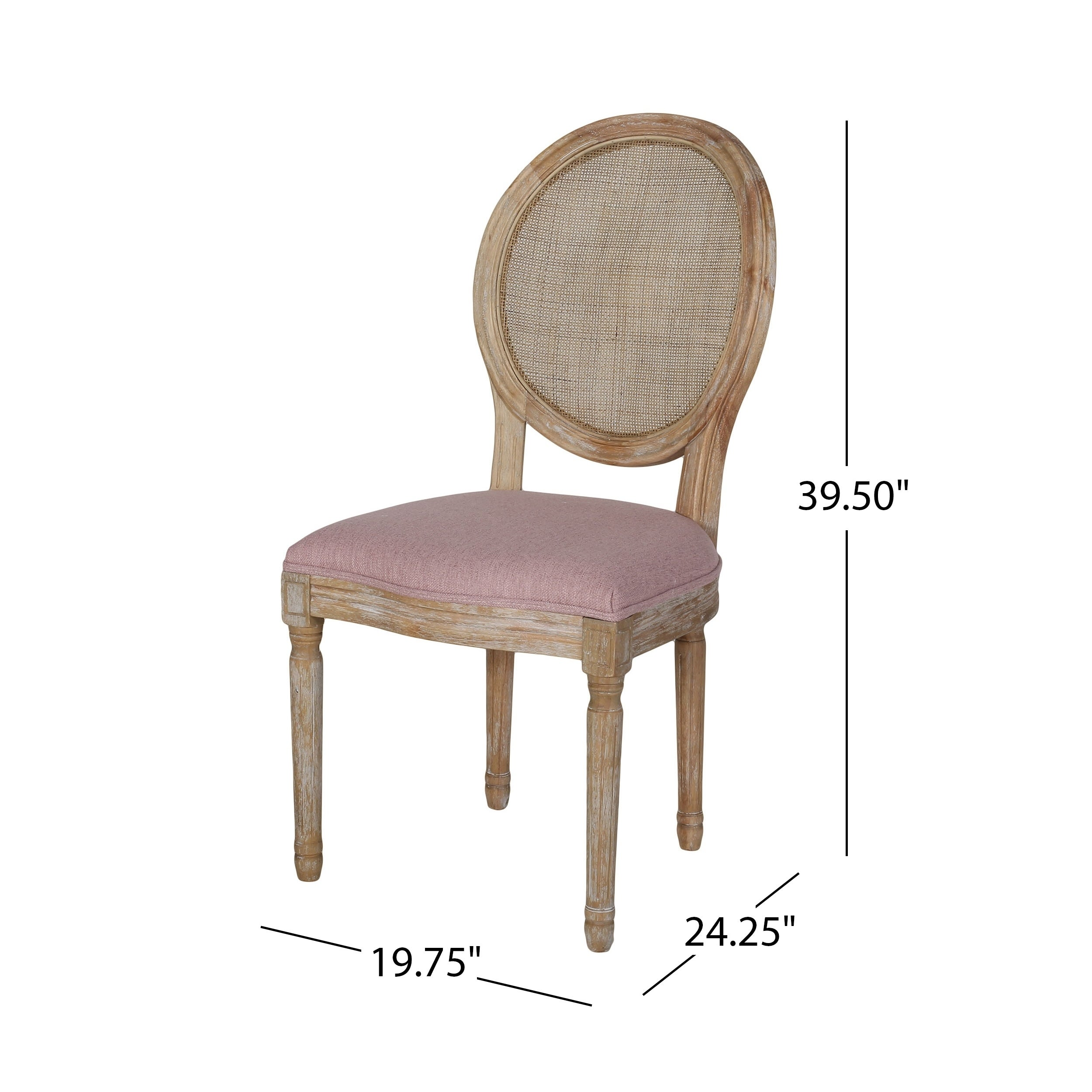 Christopher Knight Home Epworth Wooden Dining Chair With Wicker Back And Fabric Seating Set Of 2 On Free Shipping Today