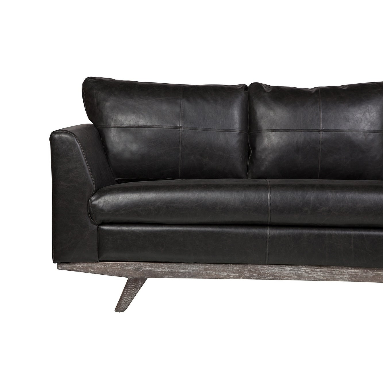 Shop Rebel 3 Seater Leather Sofa in Distressed Biker Black Leather ...
