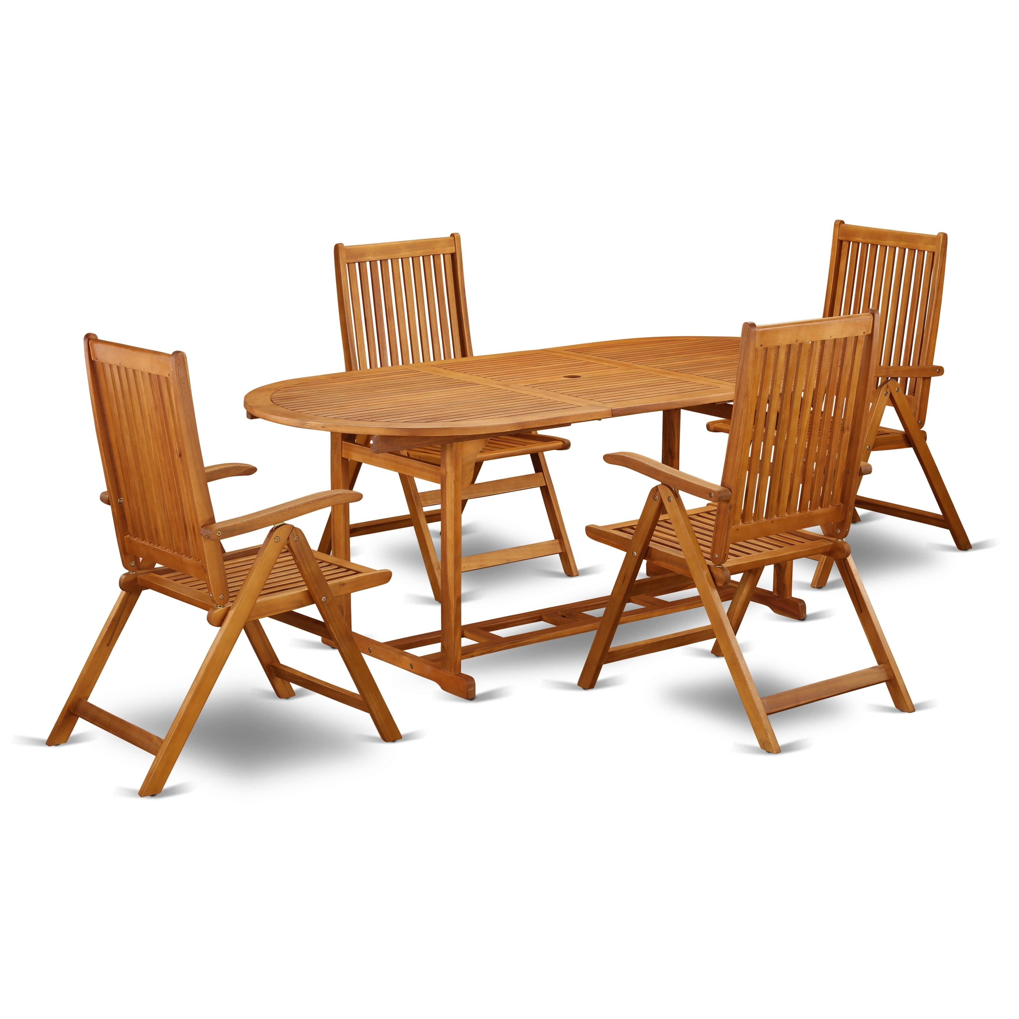Acacia Wood Outdoor Patio Set Offers An Table Foldable Chairs Number Of Chair Option