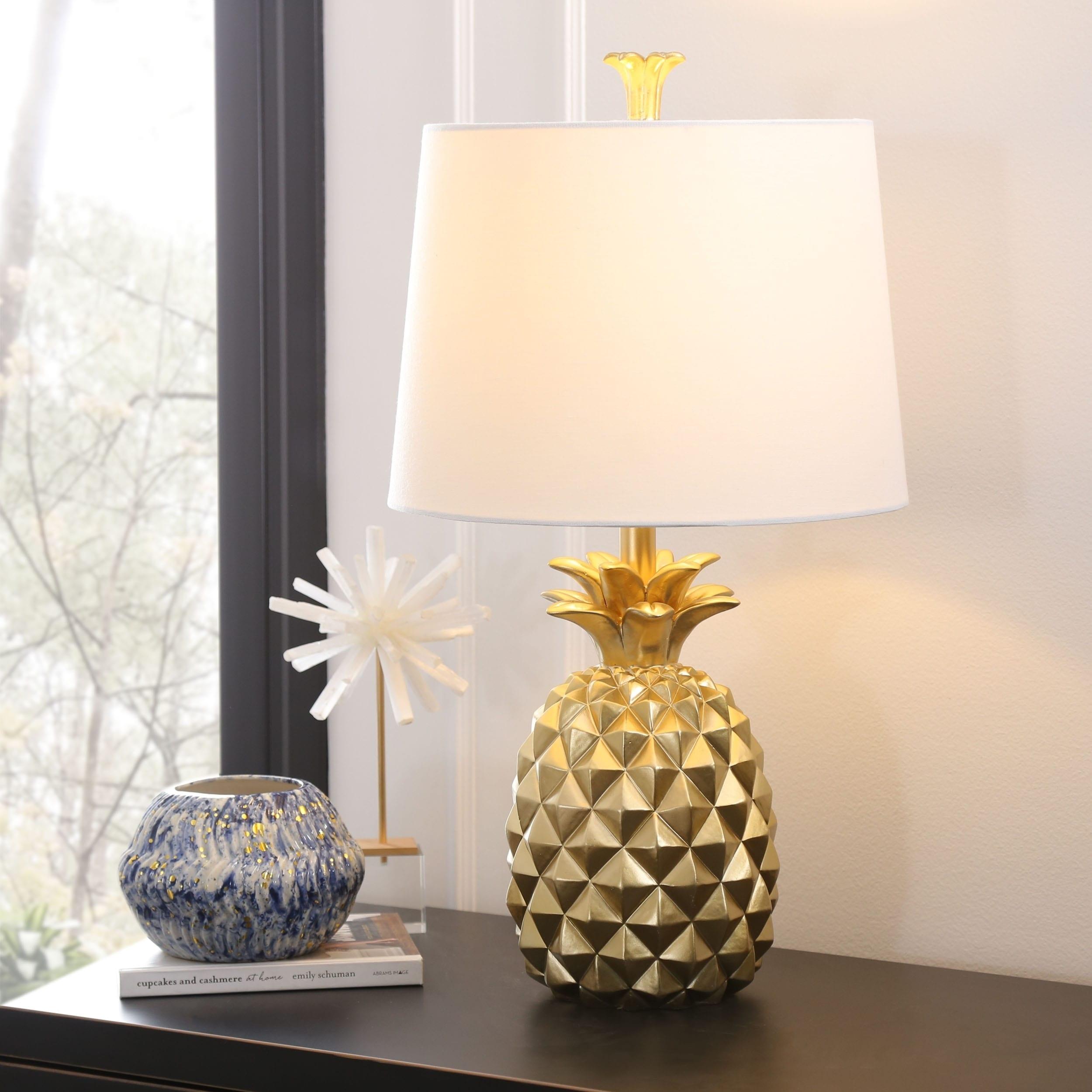 Abbyson Carina 25 Inch Gold Pineapple Table Lamp