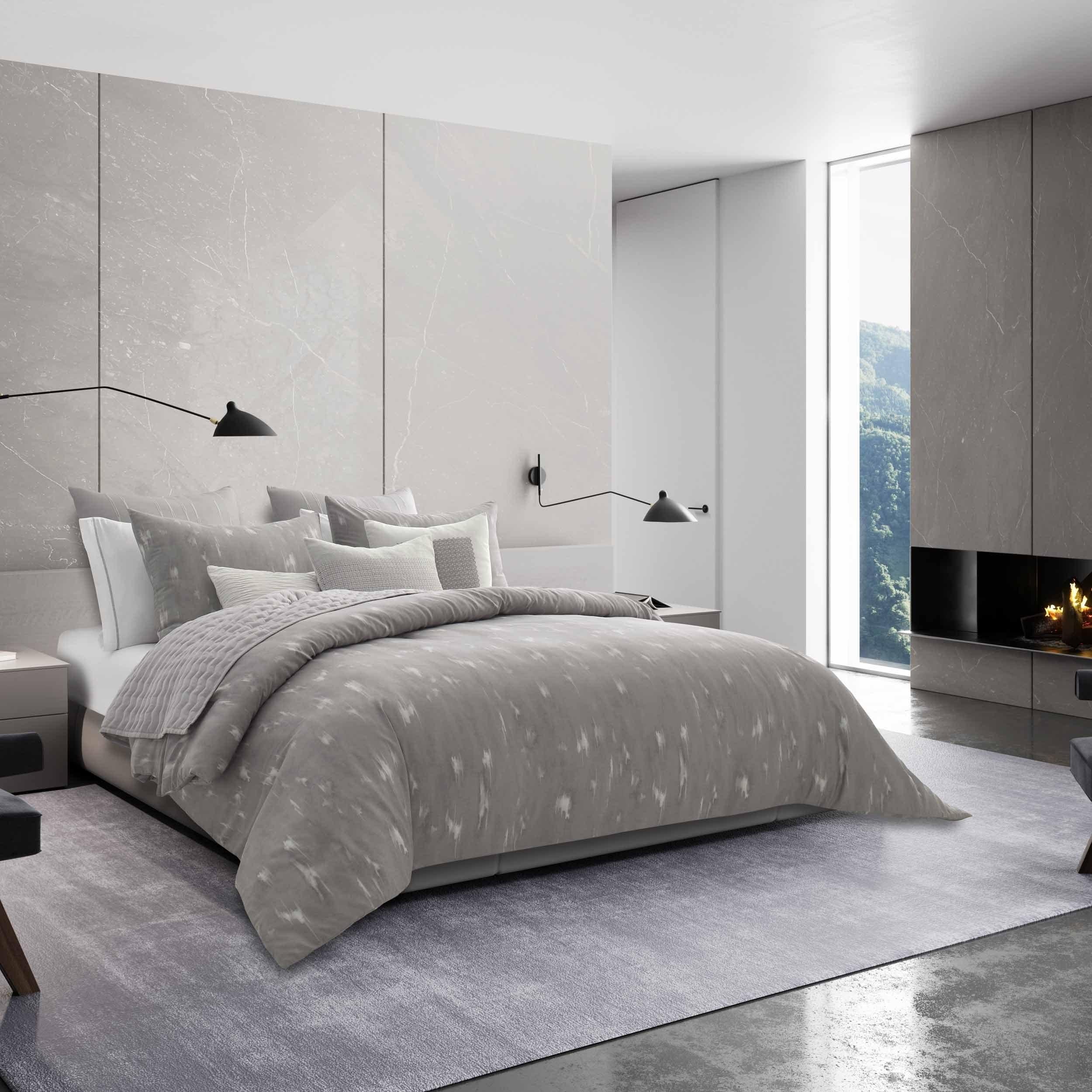 Vera Wang Silver Birch Grey Comforter Sham Set Overstock 27621392