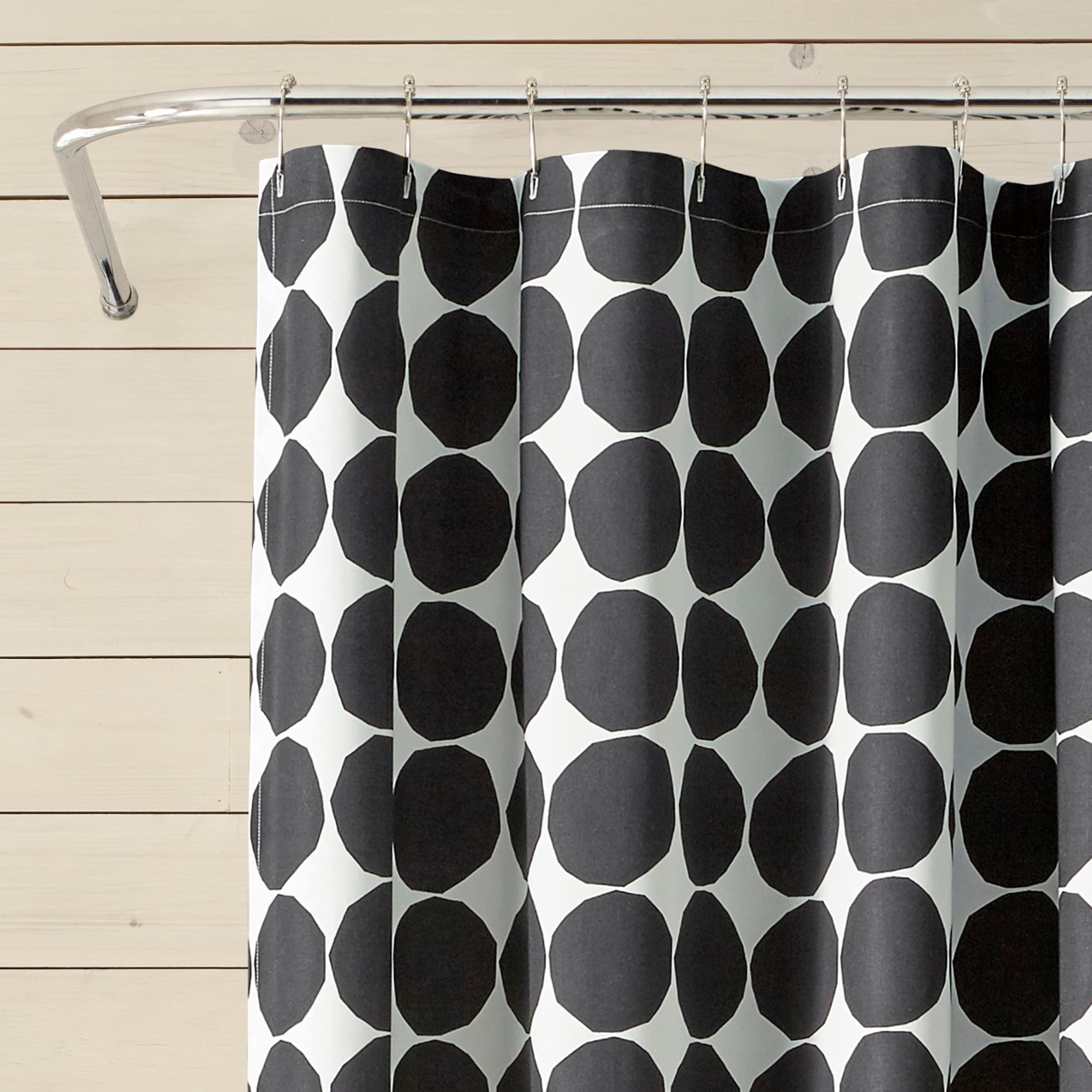 Shop Black Friday Deals On Marimekko Pienet Kivet White Shower Curtain Overstock 27621393