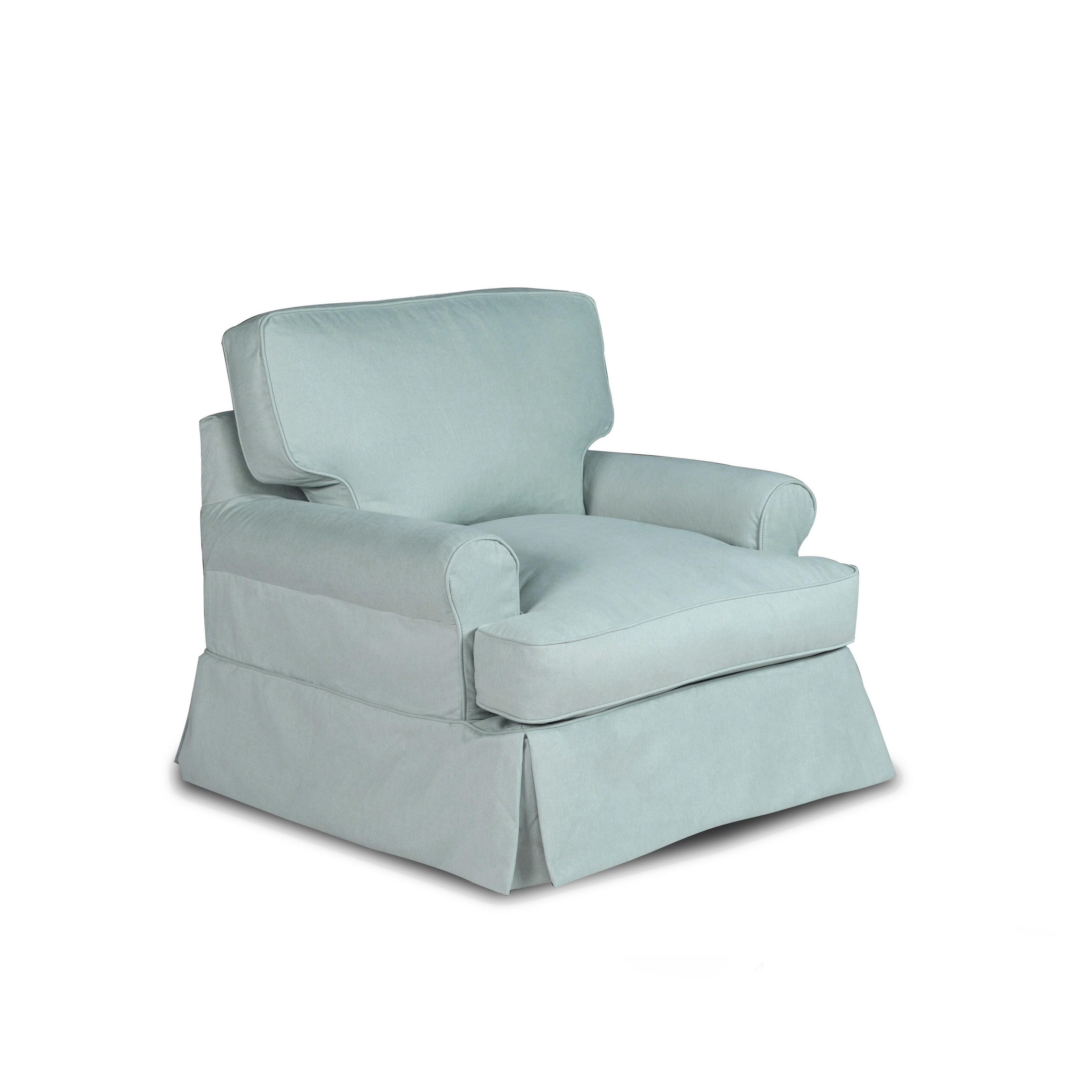 Sunset Trading Horizon T Cushion Chair Slipcover Performance Fabric Ocean Blue