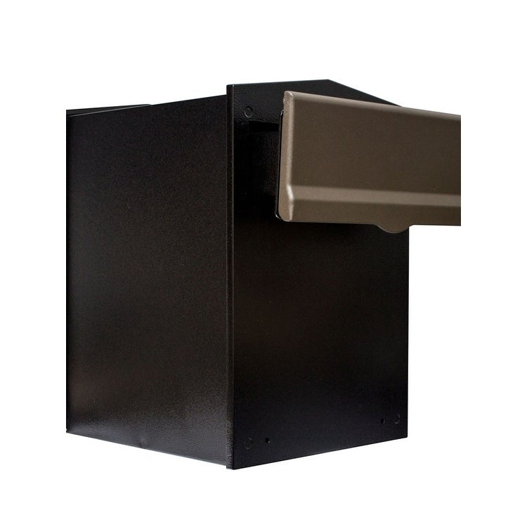 Rear Access Letter Box.Qualarc Liberty Rear Access Collection Box With Bronze Letter Plate And 4 To 6 Adjustable Chute