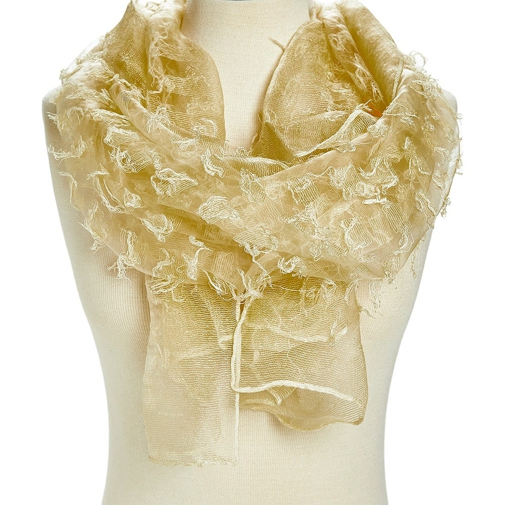 c1fefaf15 Shop Unique Women's Pink Viscose Sheer Textured Lightweight Scarves - Large  - Free Shipping Today - Overstock - 27644510