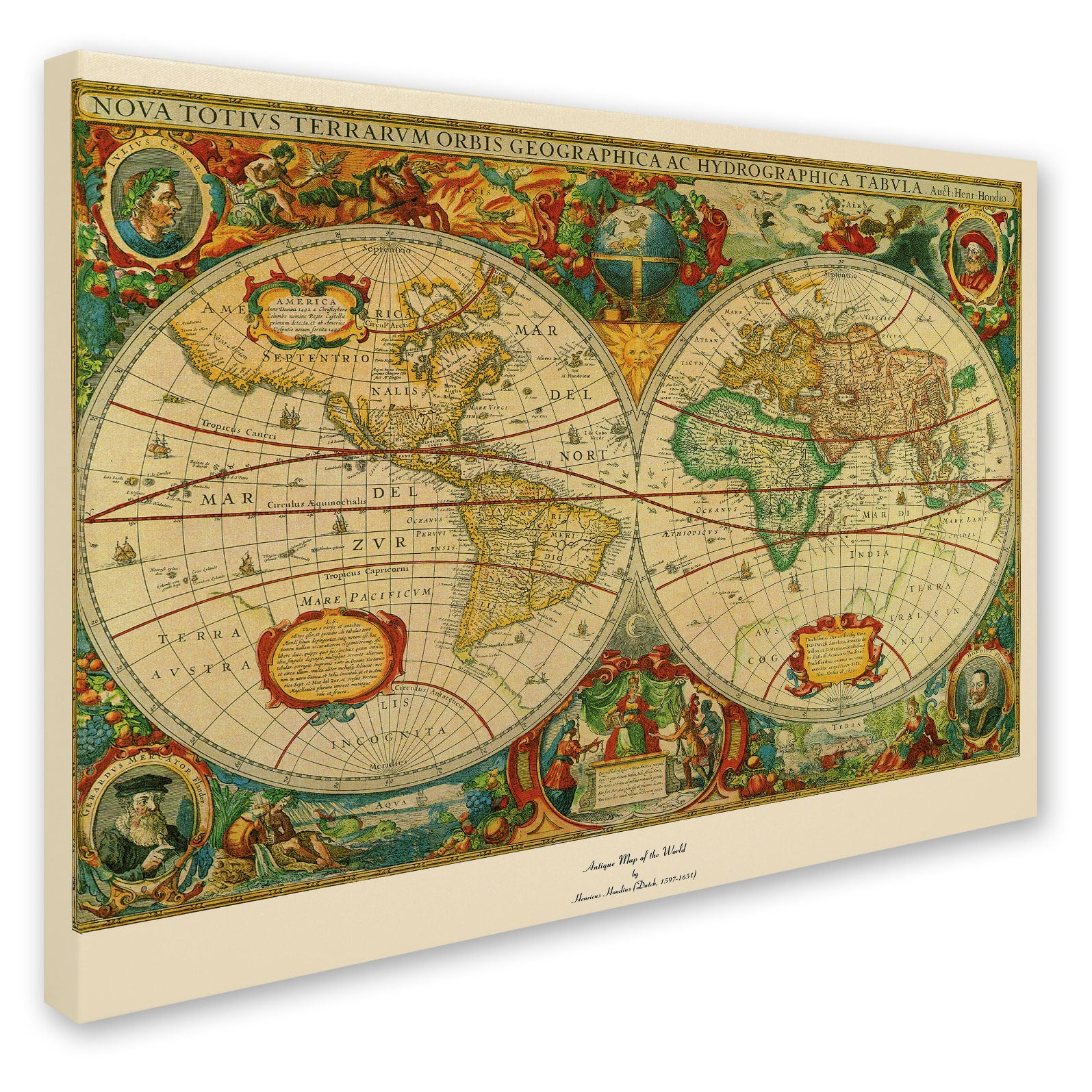 Shop Old World Map Painting On Canvas   On Sale   Free Shipping Today    Overstock.com   2767773