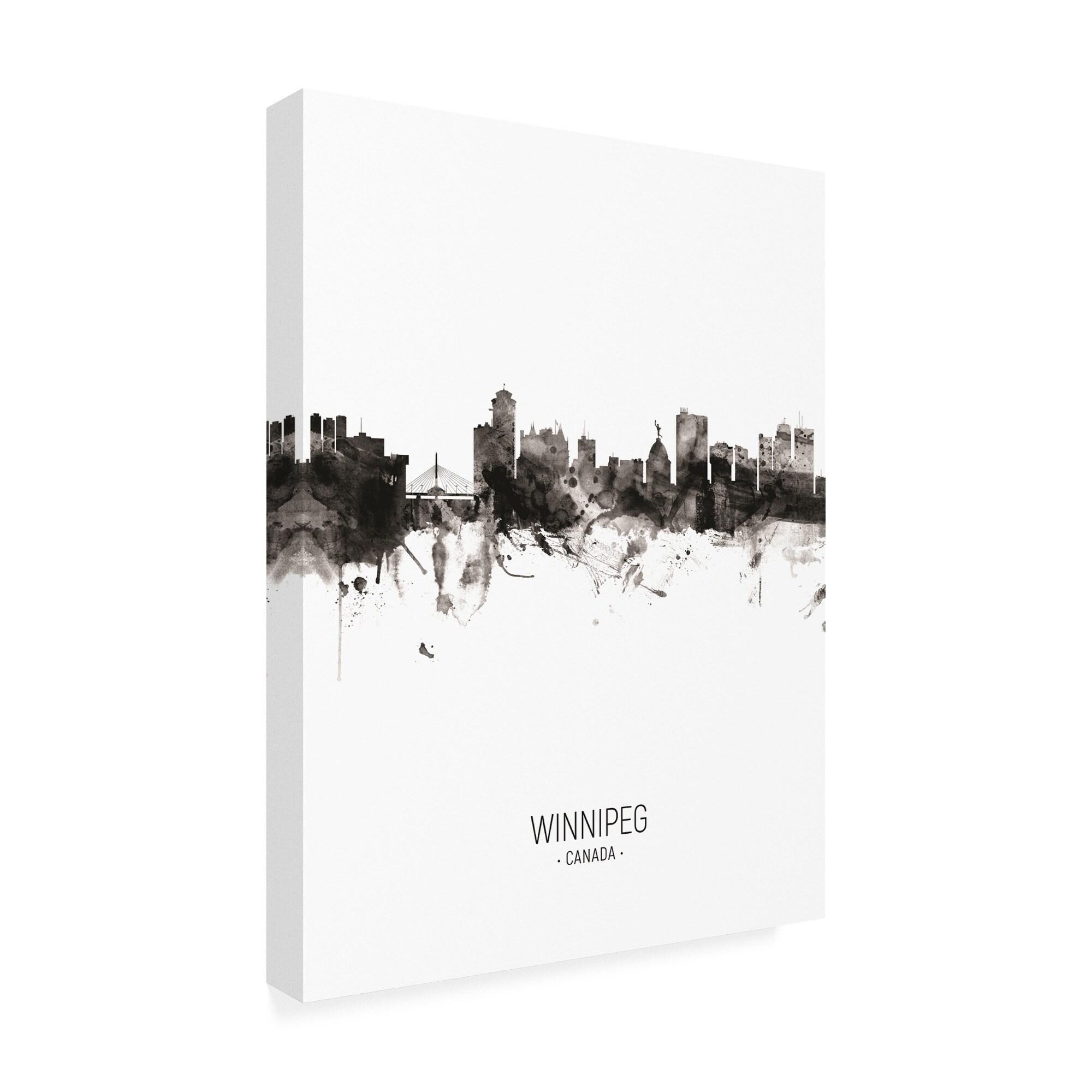 Shop michael tompsett winnipeg canada skyline portrait ii canvas art free shipping today overstock 27701556
