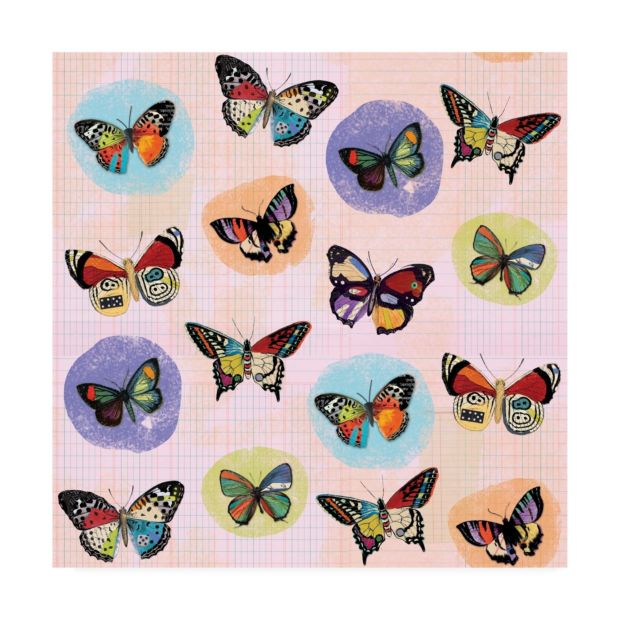 Holli Conger 'Flutter Collage pattern repeat 2' Canvas Art