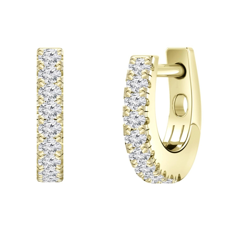 13b532657e343 Auriya 0.15ctw Petite Huggie Hoop Diamond Earrings 14K Gold