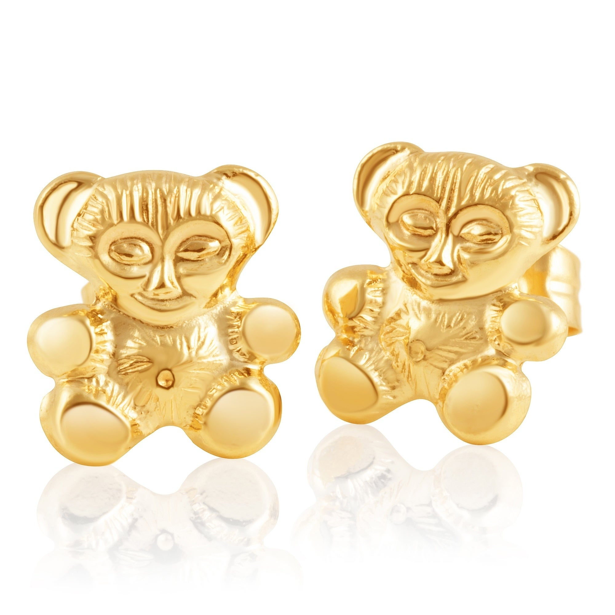 0119c9b84b8a9 14KT Gold Childrens Screwback Baby Girl Stud Earrings - Available in  Various Sizes and Radiant Animated Designs