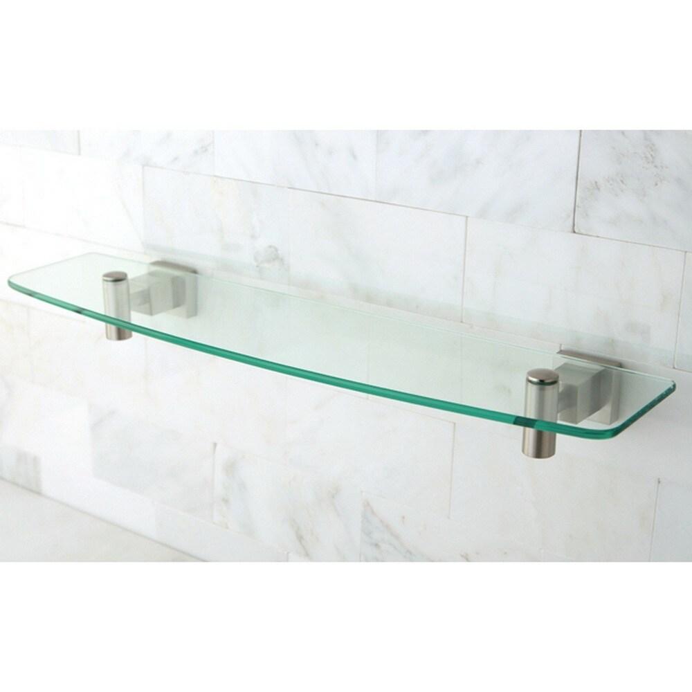 Kingston Brass Claremont Clear Glass and Satin Nickel Shelf - Free ...