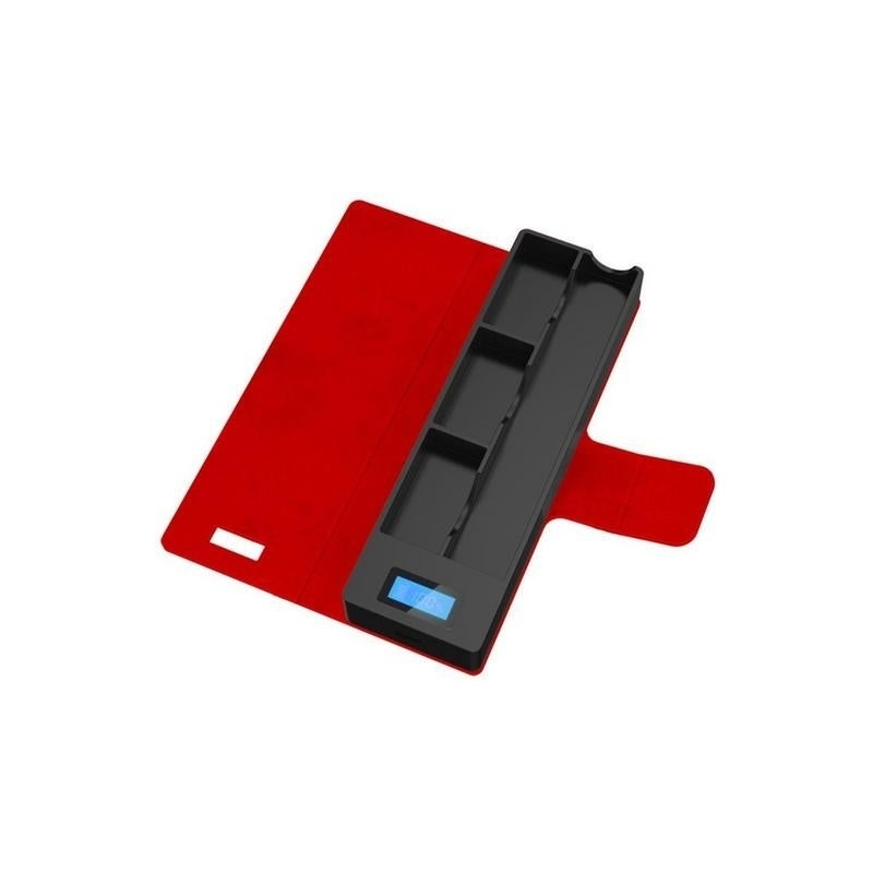 JUUL Compatible Charging Case with 3 pods and LCD indicator 1200 mAh  Compatible Portable Wireless - Red