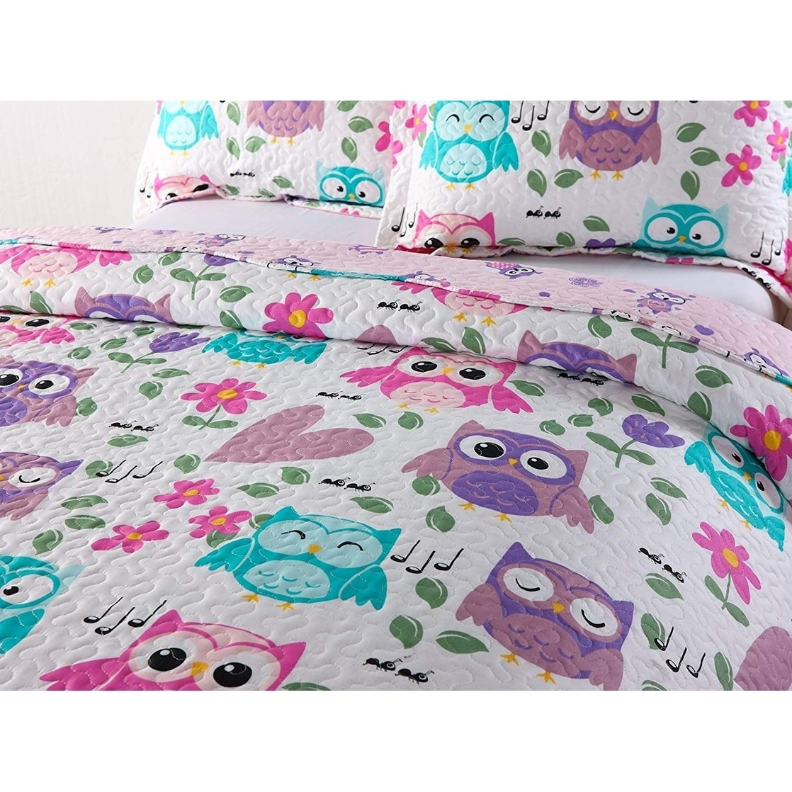 7dc9f56206ad Shop Porch & Den Ellerson Owl Kids Quilt Set - On Sale - Free Shipping On  Orders Over $45 - Overstock - 27814605
