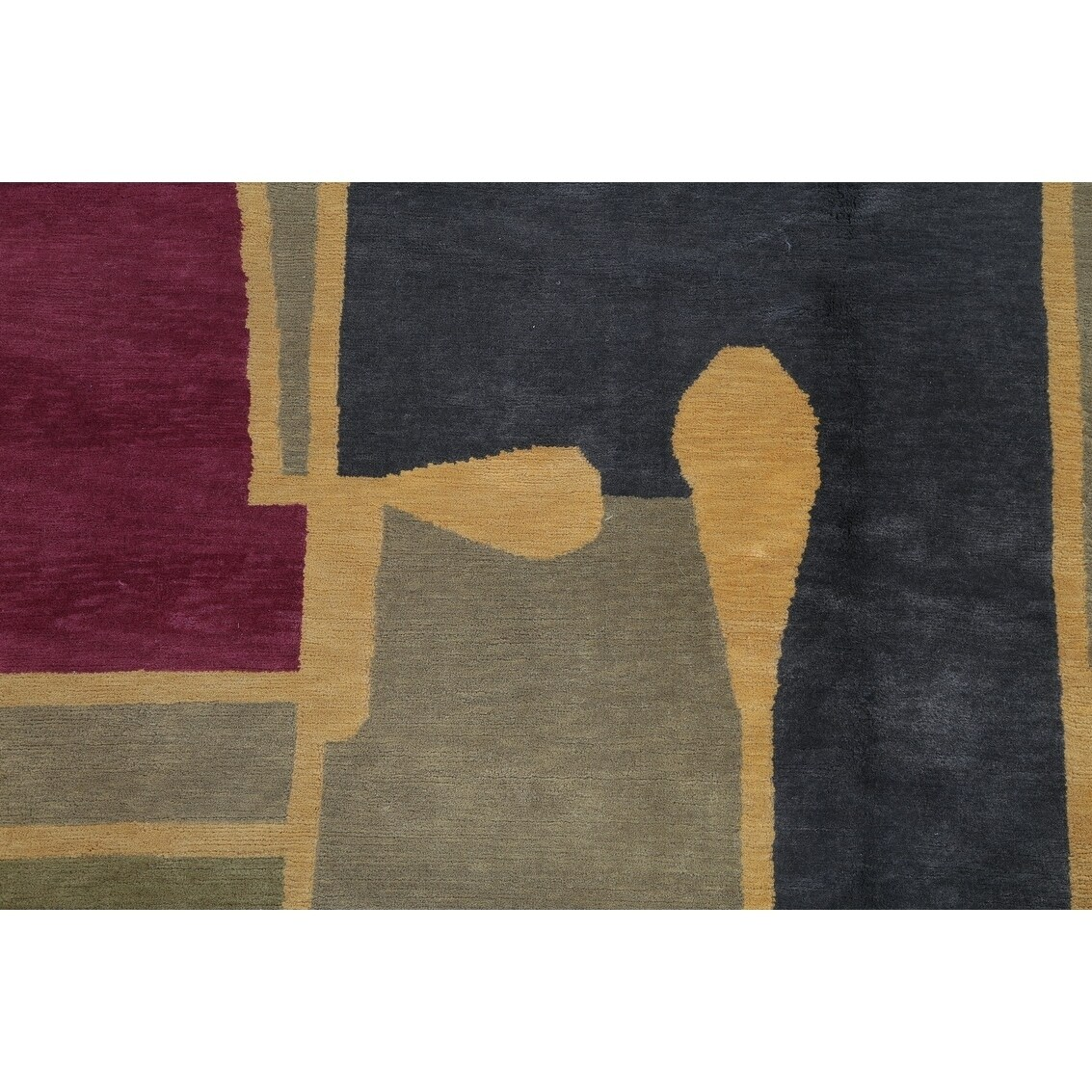 349c5e35e1e Shop Nepal Tibetan Geometric Contemporary Handmade Wool Indian Area Rug -  11'6