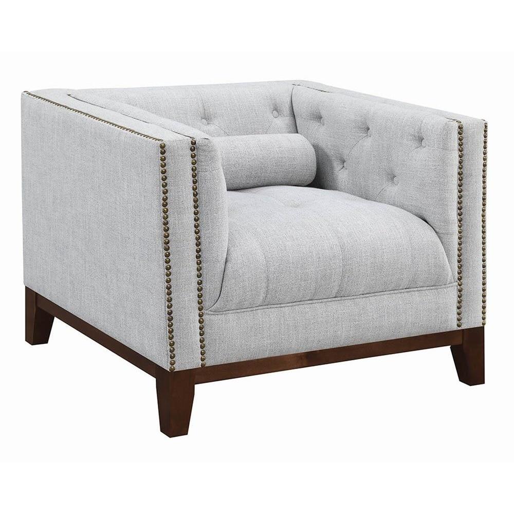 Sensational Annapolis Creamy White Tufted Accent Chair Ibusinesslaw Wood Chair Design Ideas Ibusinesslaworg