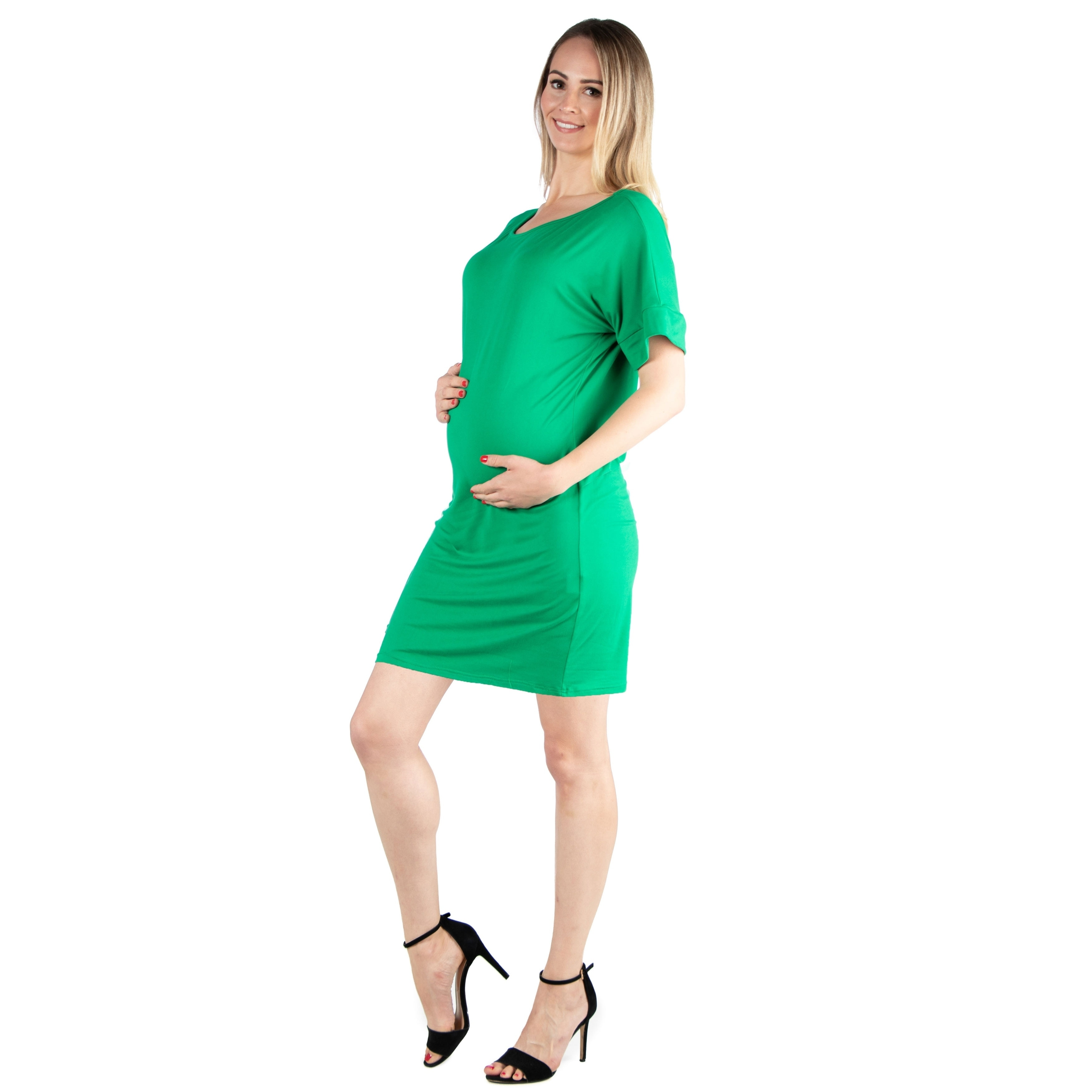 f524625cb3304 Shop 24seven Comfort Apparel Loose Fitting Maternity T Shirt Dress - On  Sale - Free Shipping On Orders Over $45 - Overstock - 28010710