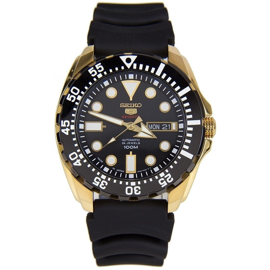b80afcbcb Shop Seiko Men's SRP608J1 'Sports' Black Resin Watch - Free Shipping Today  - Overstock - 28014442