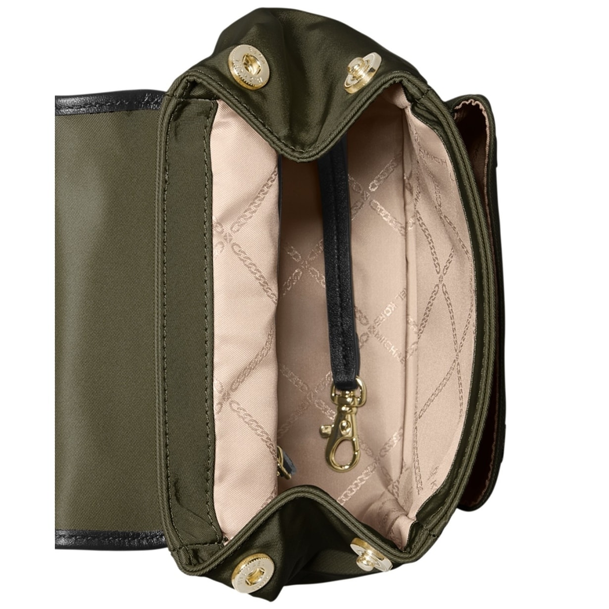 9d490e97352047 Shop MICHAEL Michael Kors Leila Nylon Exta Small Backpack Olive/Gold - Free  Shipping Today - Overstock - 28021376