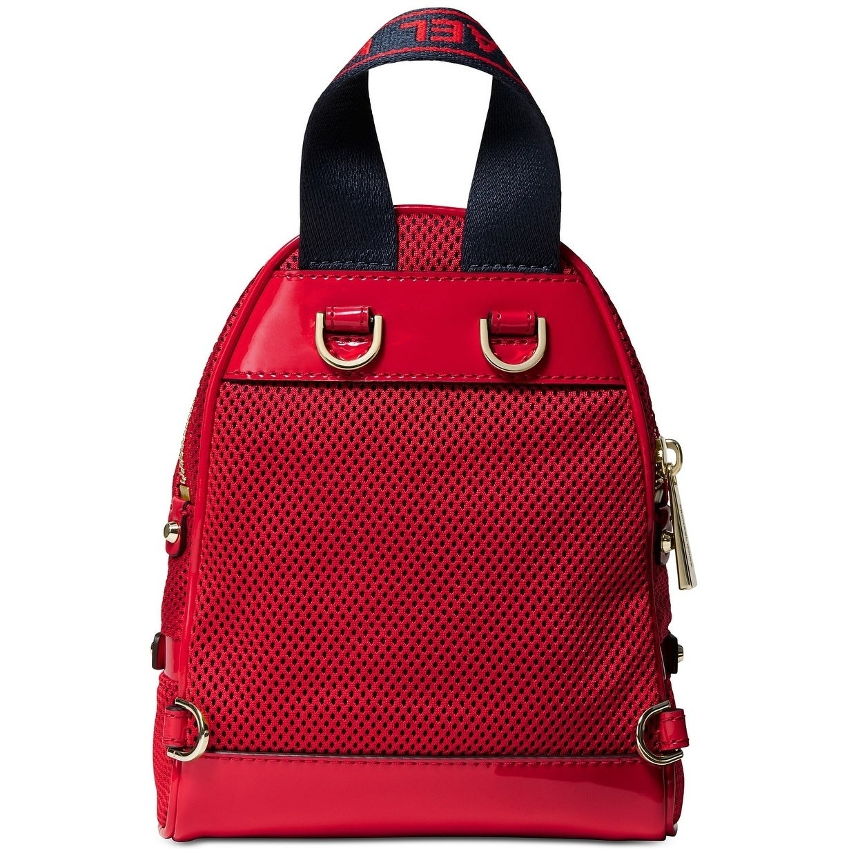 071f6eb37d202e Shop MICHAEL Michael Kors Rhea Zip Extra Small Logo Backpack Red/Gold -  Free Shipping Today - Overstock - 28021382