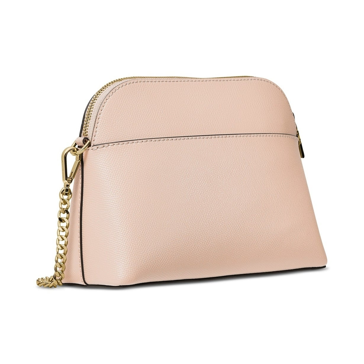 15f656f69cb3 Shop MICHAEL Michael Kors Crossgrain Leather Dome Crossbody Pale Pink/Gold  - Free Shipping Today - Overstock - 28021700