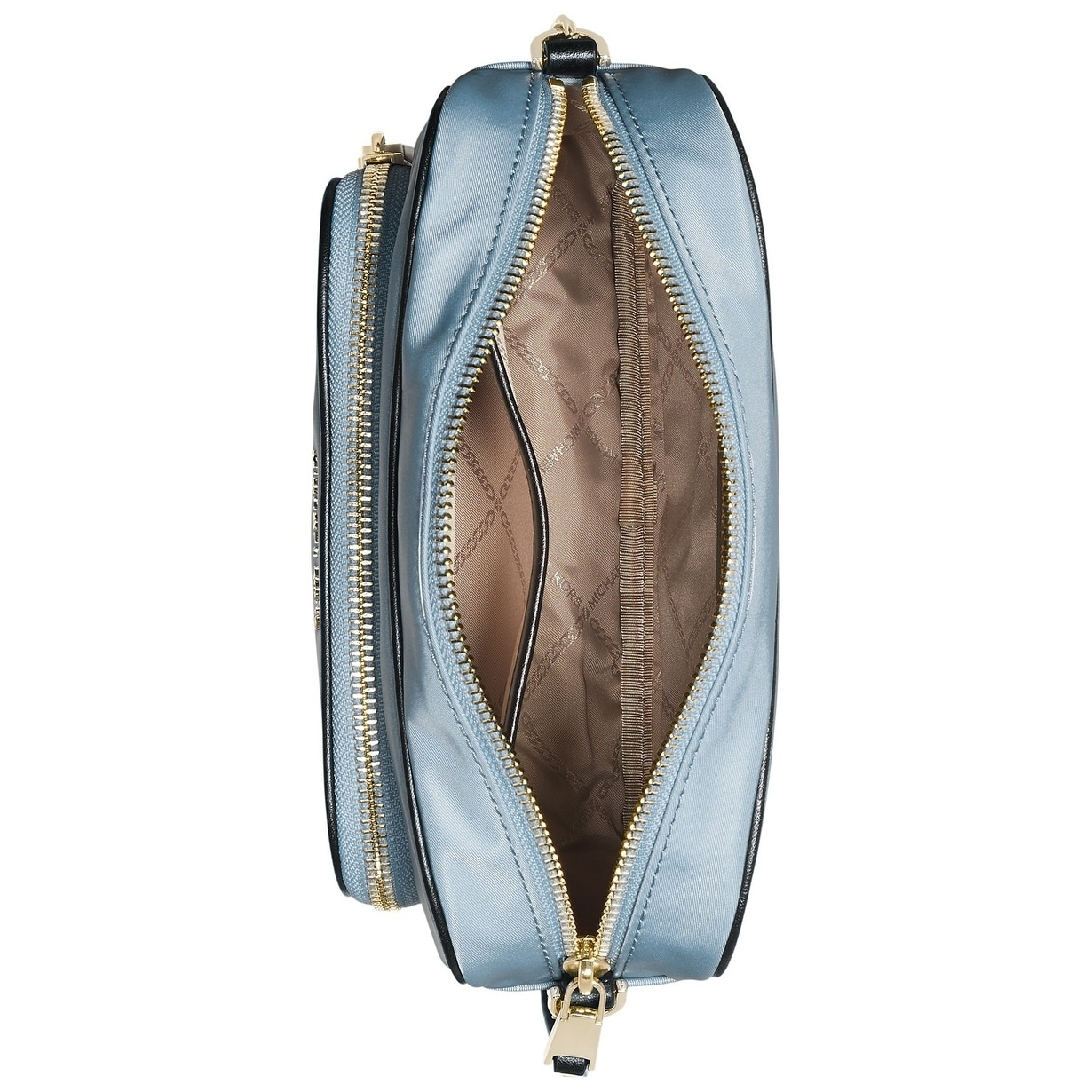 f138bdb6865b Shop MICHAEL Michael Kors Leila Nylon Camera Bag Pale Blue/Gold - Free  Shipping Today - Overstock - 28021704