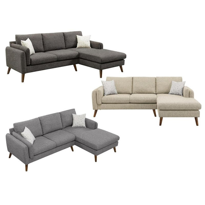 Shop LILOLA Founders Midcentury Modern Sectional Sofa - Free ...