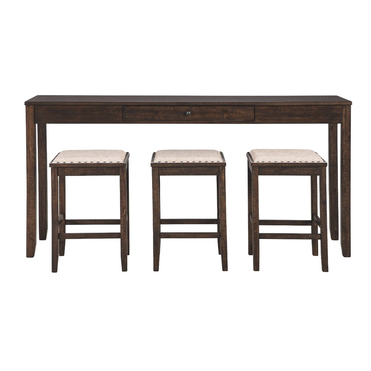 Shop Rokane Rectangular Counter Height Dining Set Table And 3 Bar