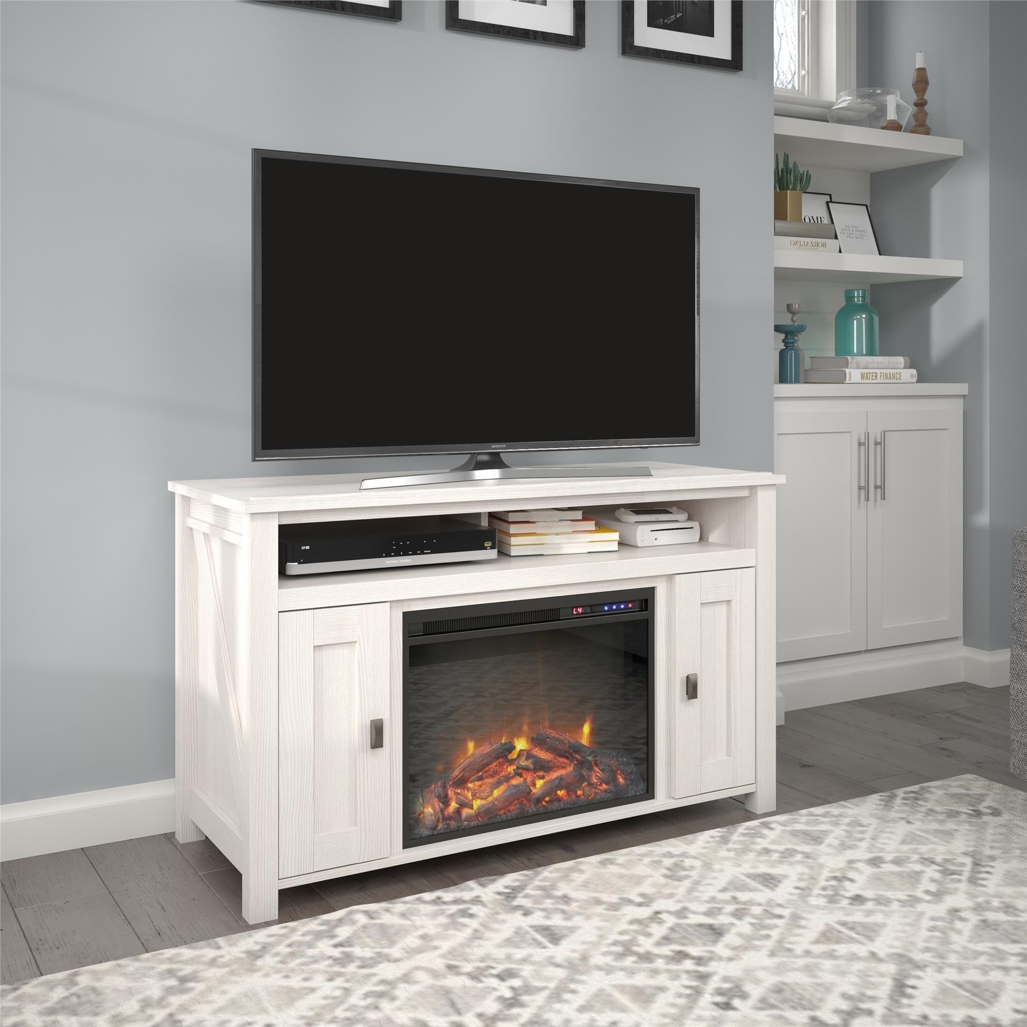 Shop Avenue Greene Becken Ridge Electric Fireplace Tv Console For