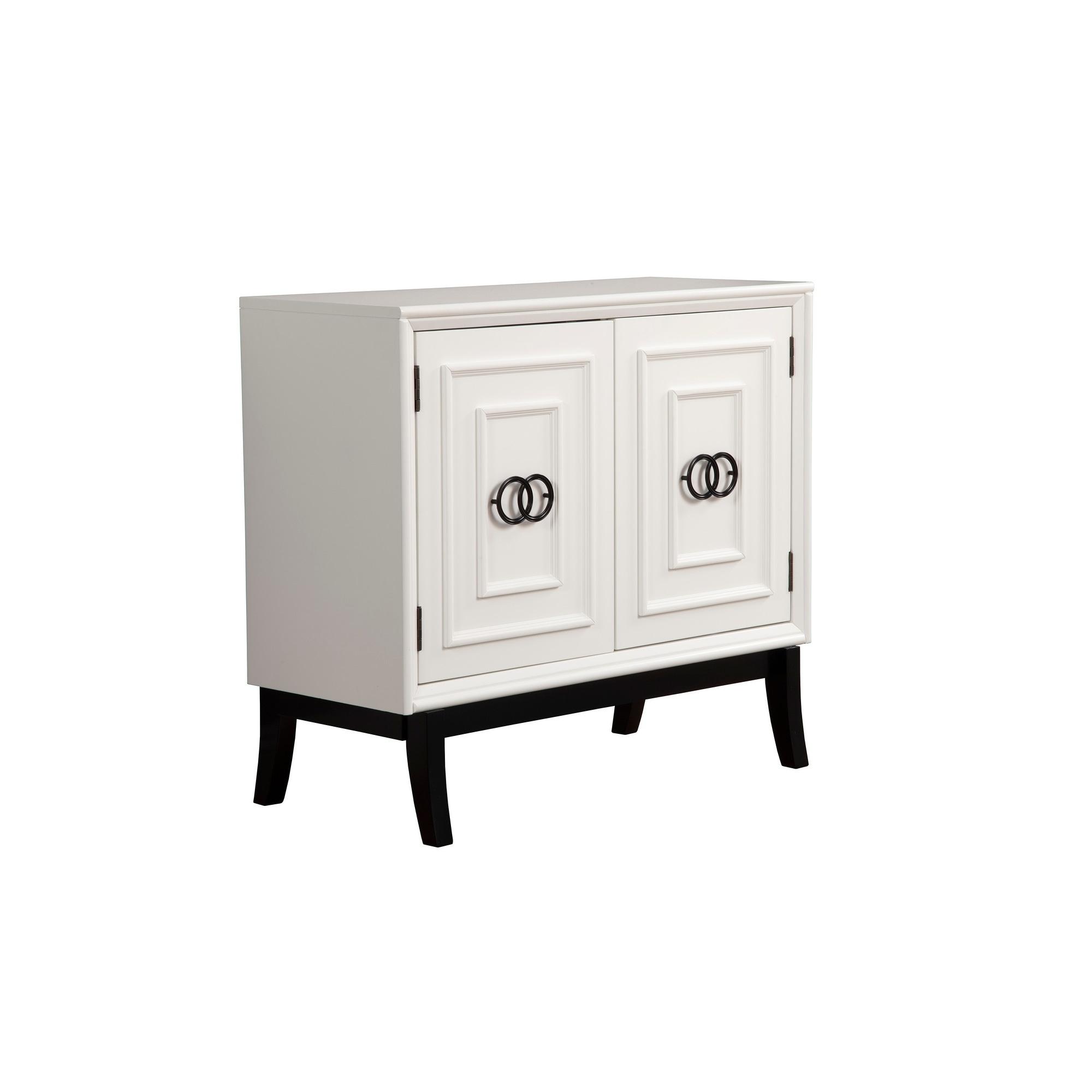 Alpine Furniture Zen Accent Chest W Cabinet White