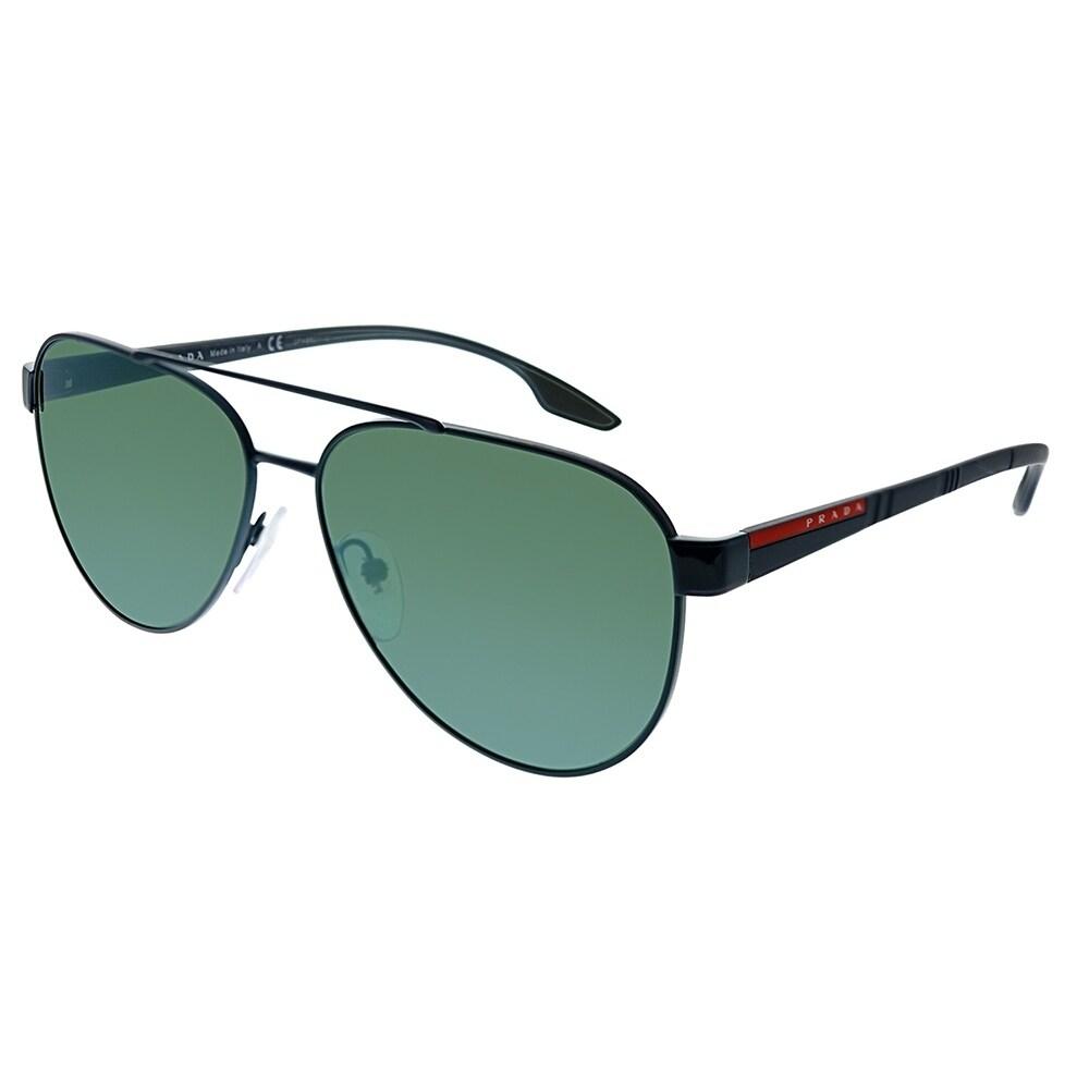 7ffb9bc5b8e9 Prada Linea Rossa Lifestyle PS 54TS 7AN213 Unisex Blue Frame Green Mirror Lens  Sunglasses