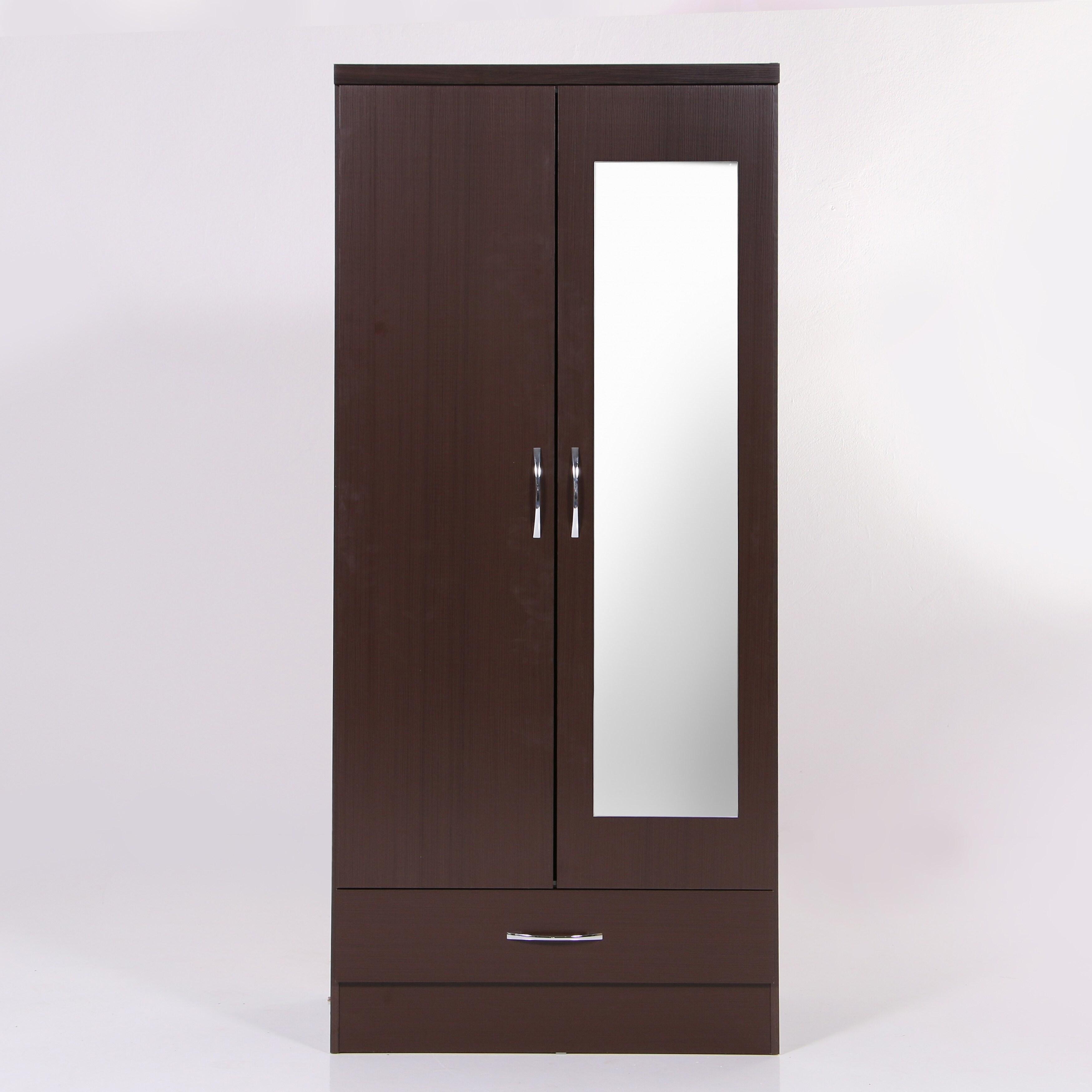 Nevada Mirrored 2 Door Wardrobe Armoire Free Shipping Today 28227501