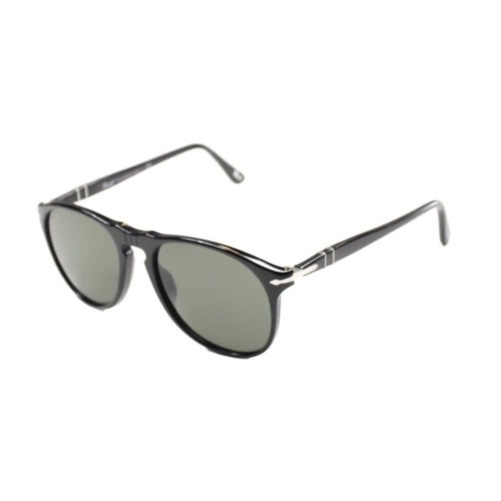 8631144906a6 Persol PO 9649 95/31 52mm Unisex Black Frame Green Lens Sunglasses