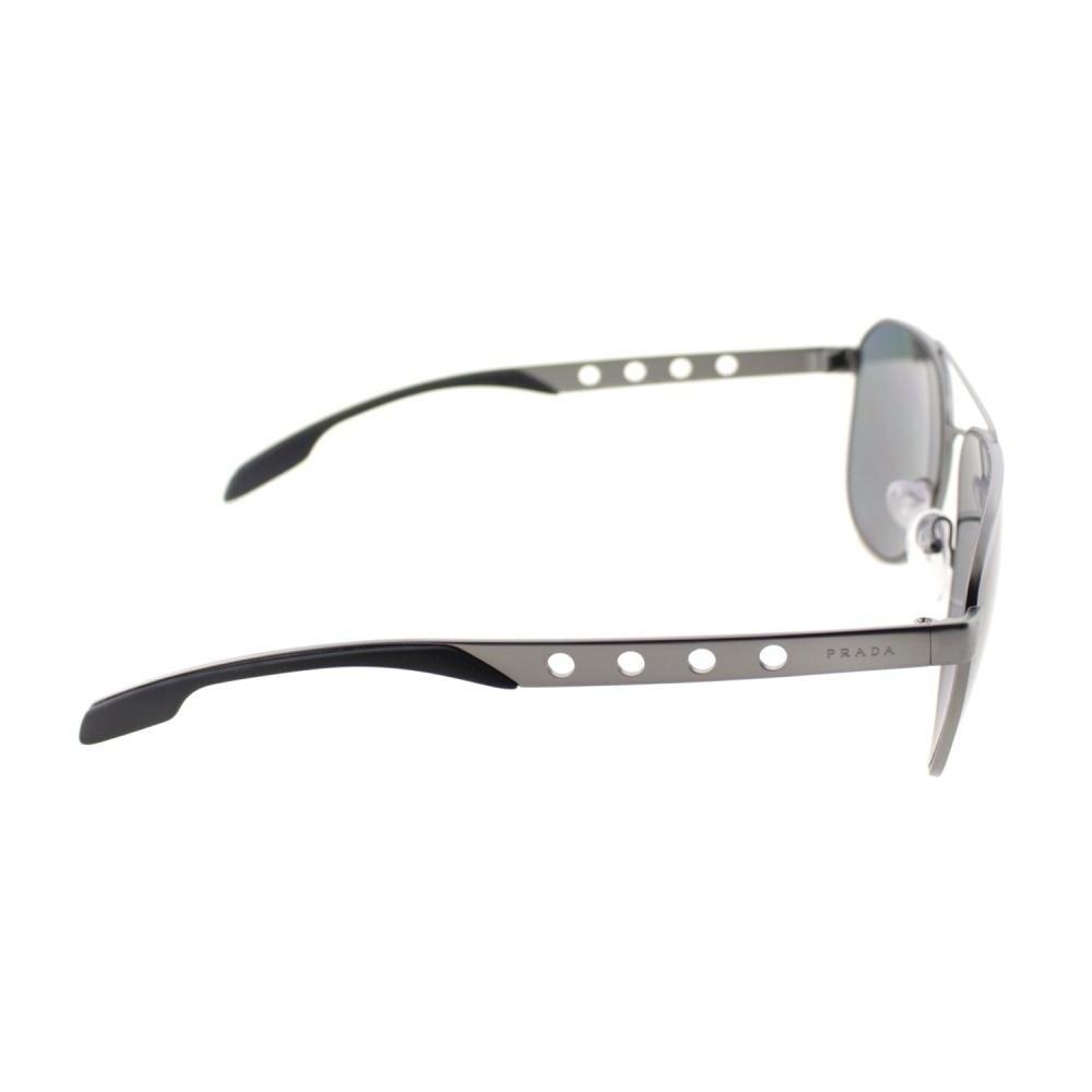 e716446a1726 Shop Prada Unisex Gunmetal Frame Grey Polarized Lens Sunglasses - Free  Shipping Today - Overstock - 28254481