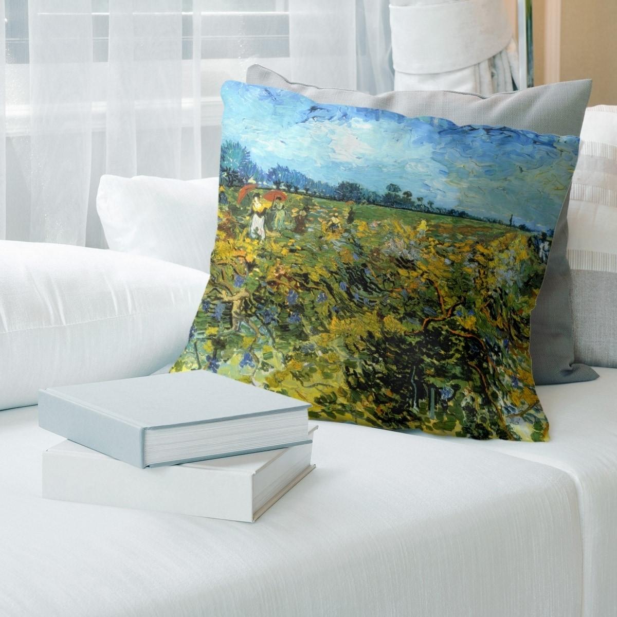 Porch Den Vincent Van Gogh The Green Vineyard Throw Pillow Overstock 28274798