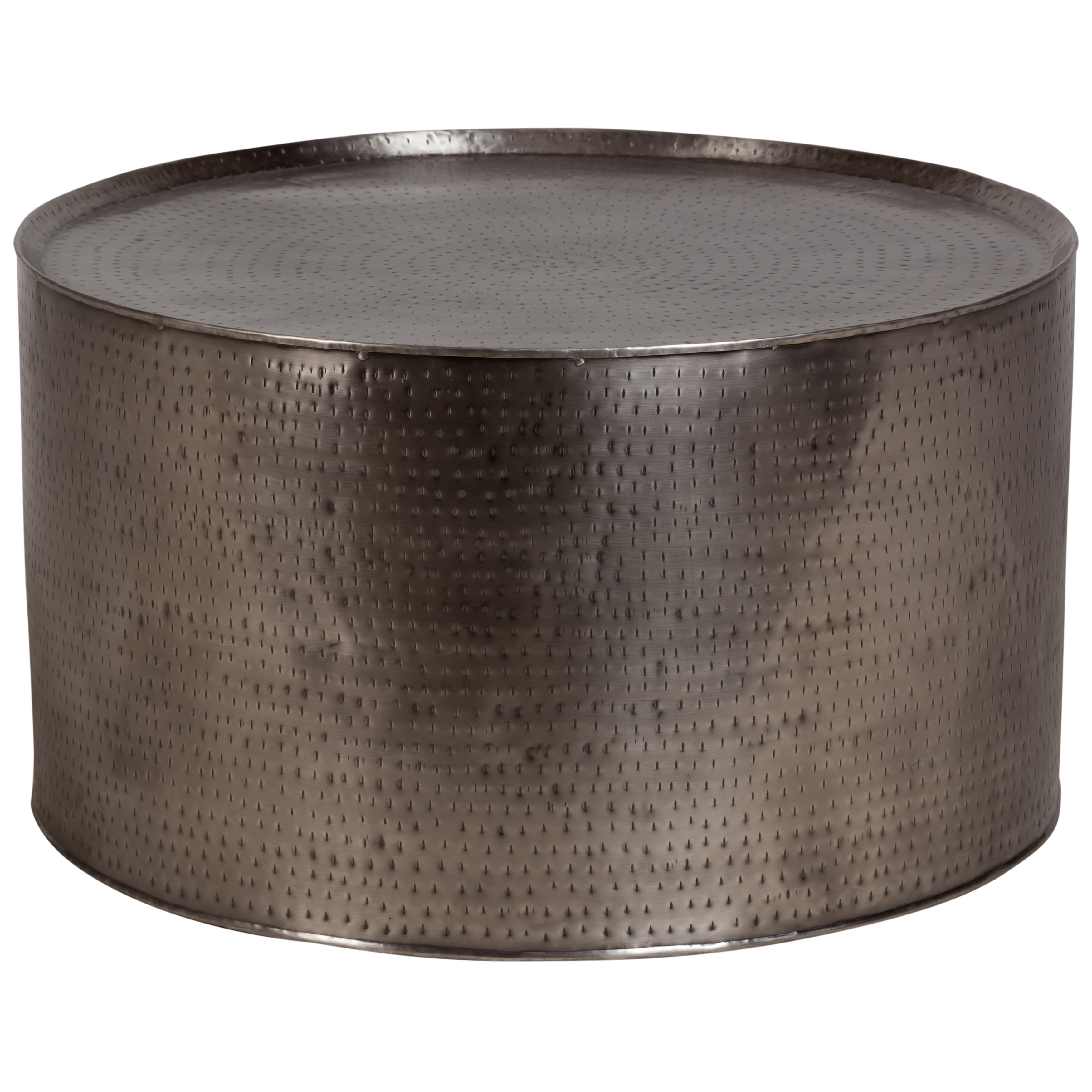 Genial Shop Rotonde Industrial Hand Hammered Coffee Table, Nickel   Free Shipping  Today   Overstock   28275132