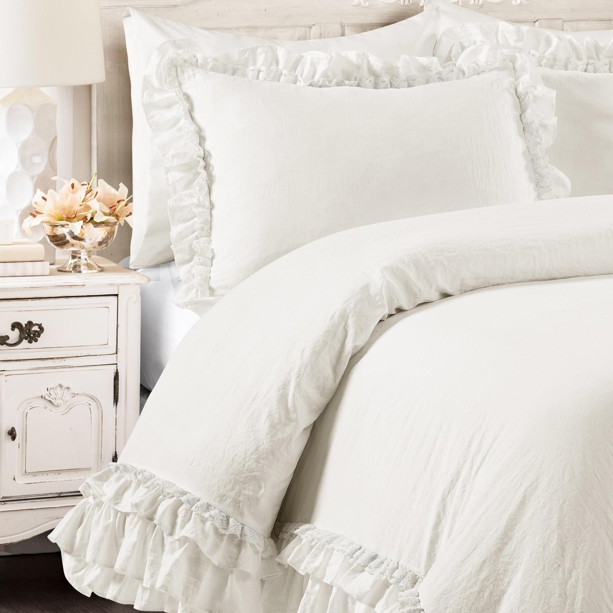 Astounding Lush Decor Ella Shabby Chic Ruffle Lace Comforter Set Interior Design Ideas Gentotthenellocom