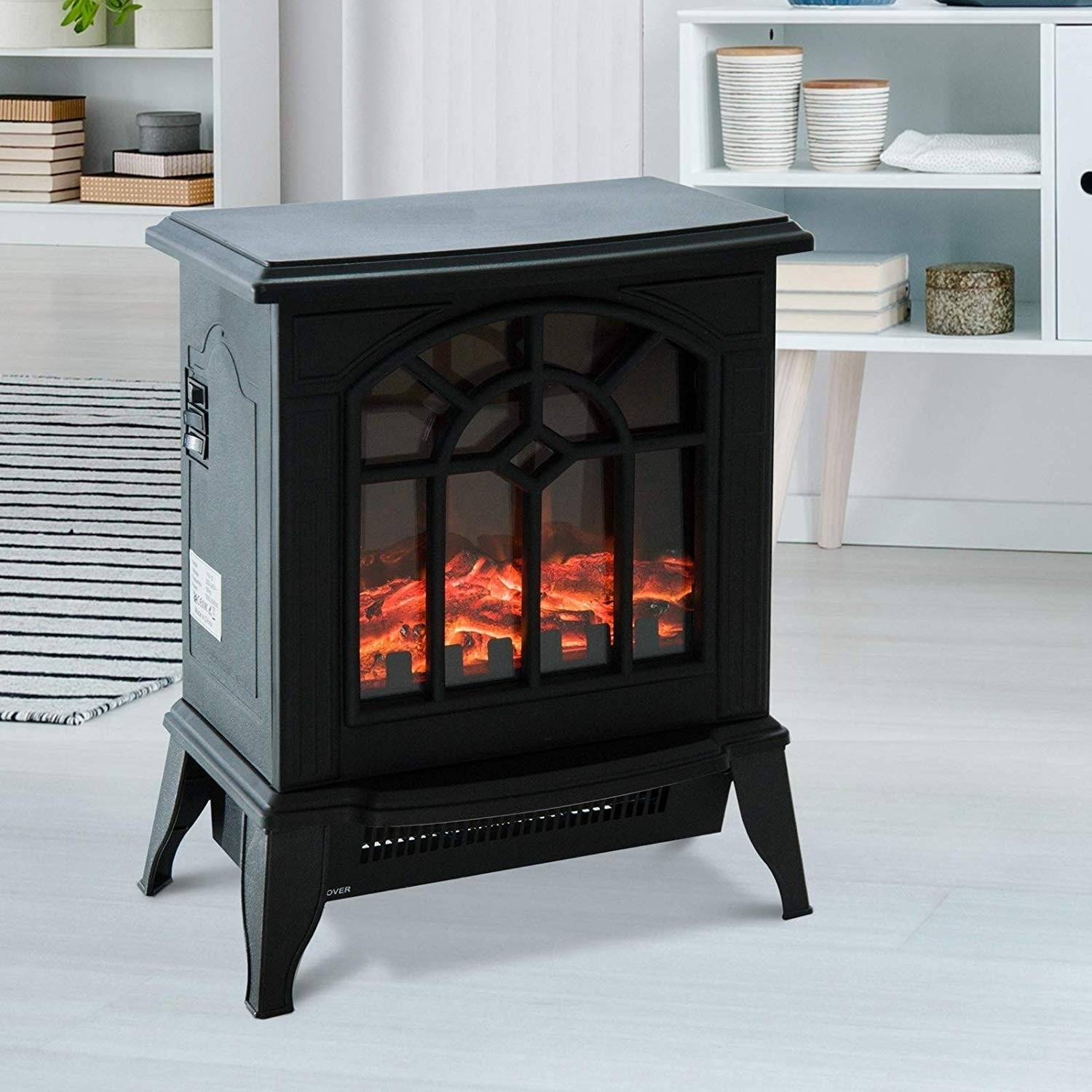 Miraculous Homcom 1500W Freestanding Indoor Electric Fireplace Heater Download Free Architecture Designs Scobabritishbridgeorg