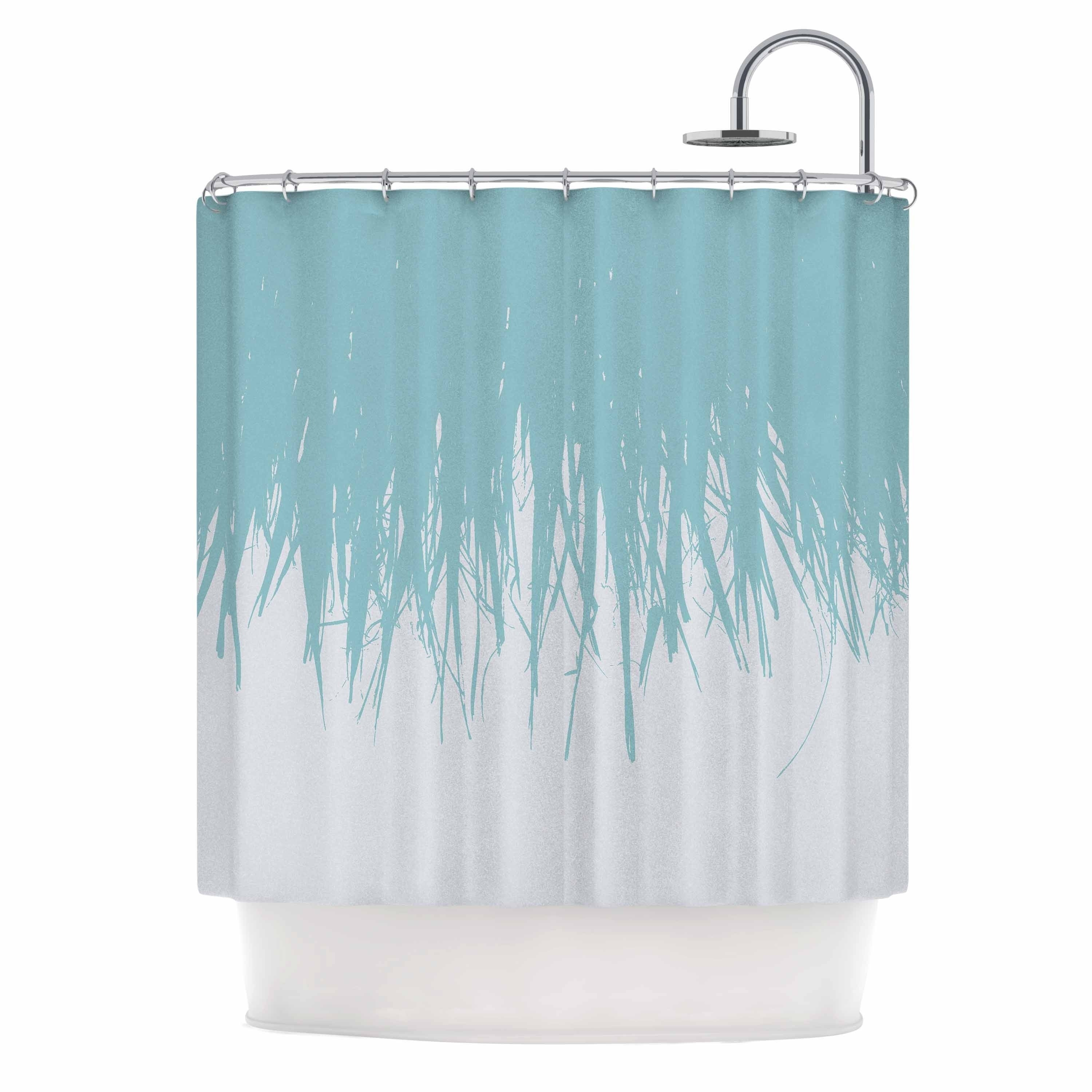 Project M Fringe Salt Blue White Digital Shower Curtain Free Shipping On Orders Over 45 28419341