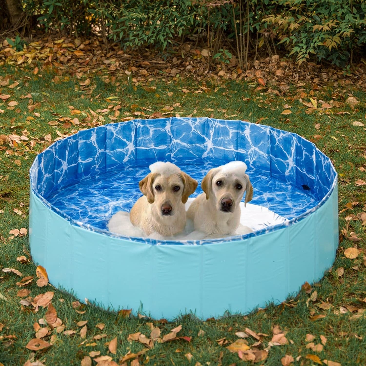 Kinbor Foldable Dog Swimming Pool Pet Bathing Tub Outdoor Bath Pool for  Dogs Cats
