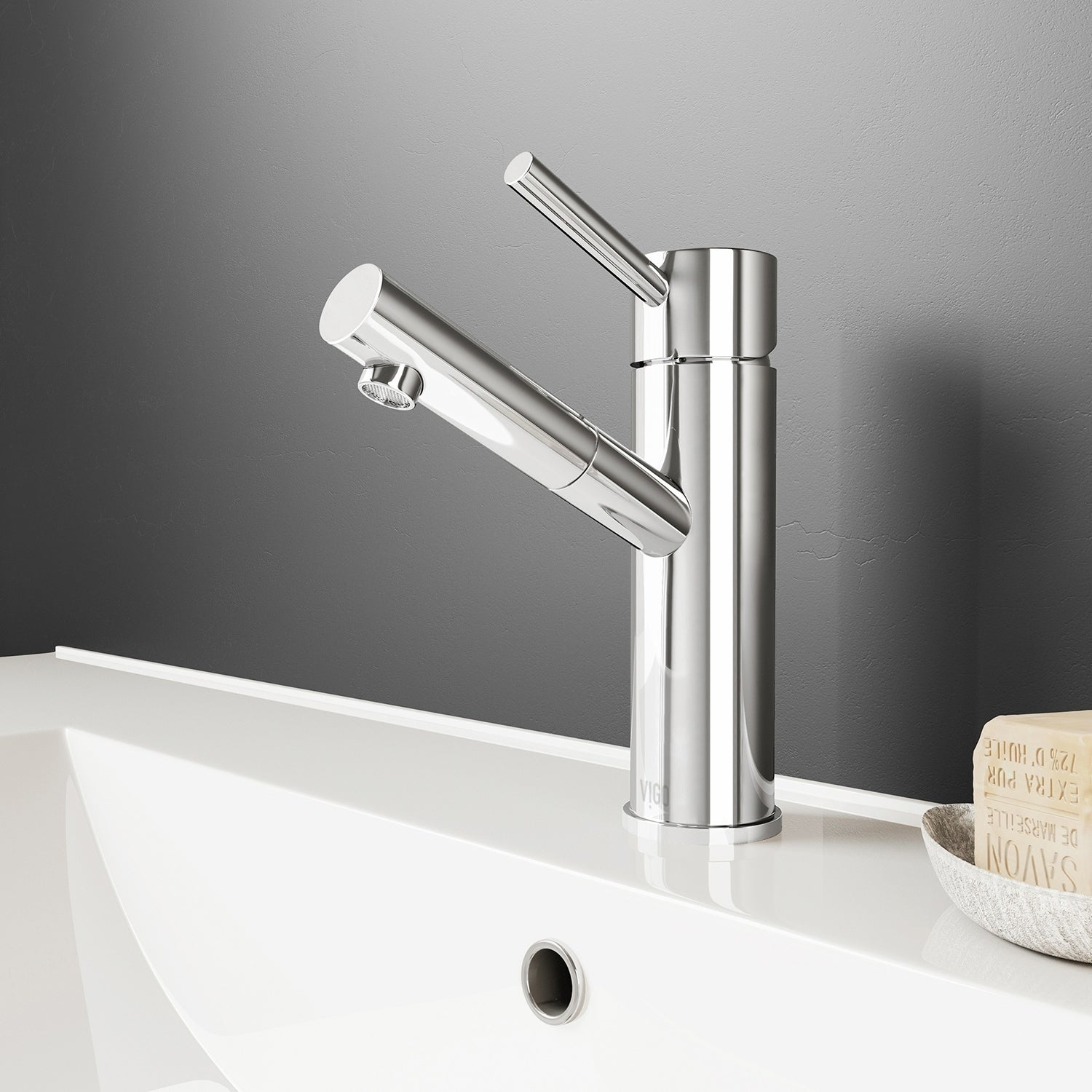 Shop Vigo Noma Chrome Single Hole Bathroom Faucet On Sale Free
