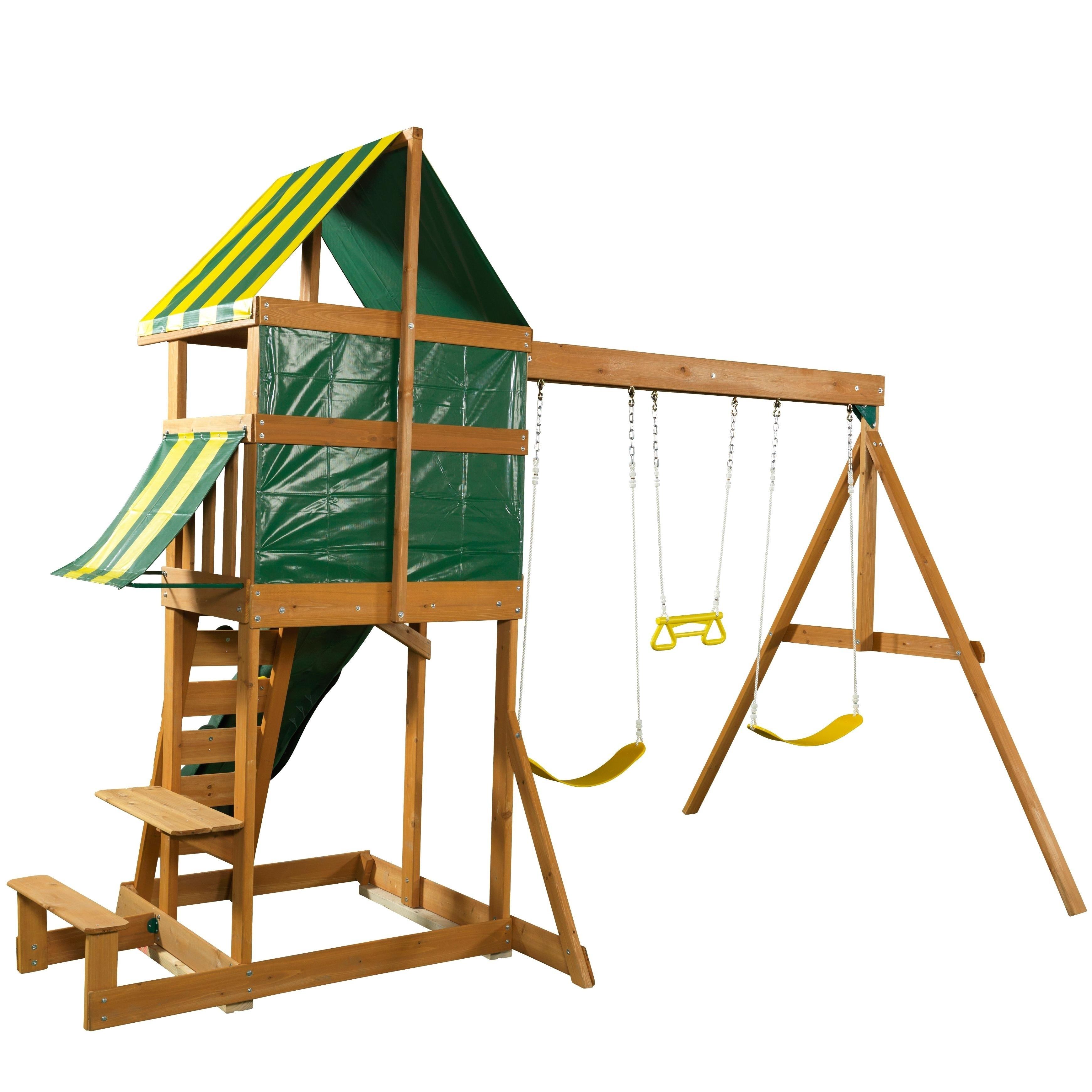Spring Meadow Wooden Swing Set Playset
