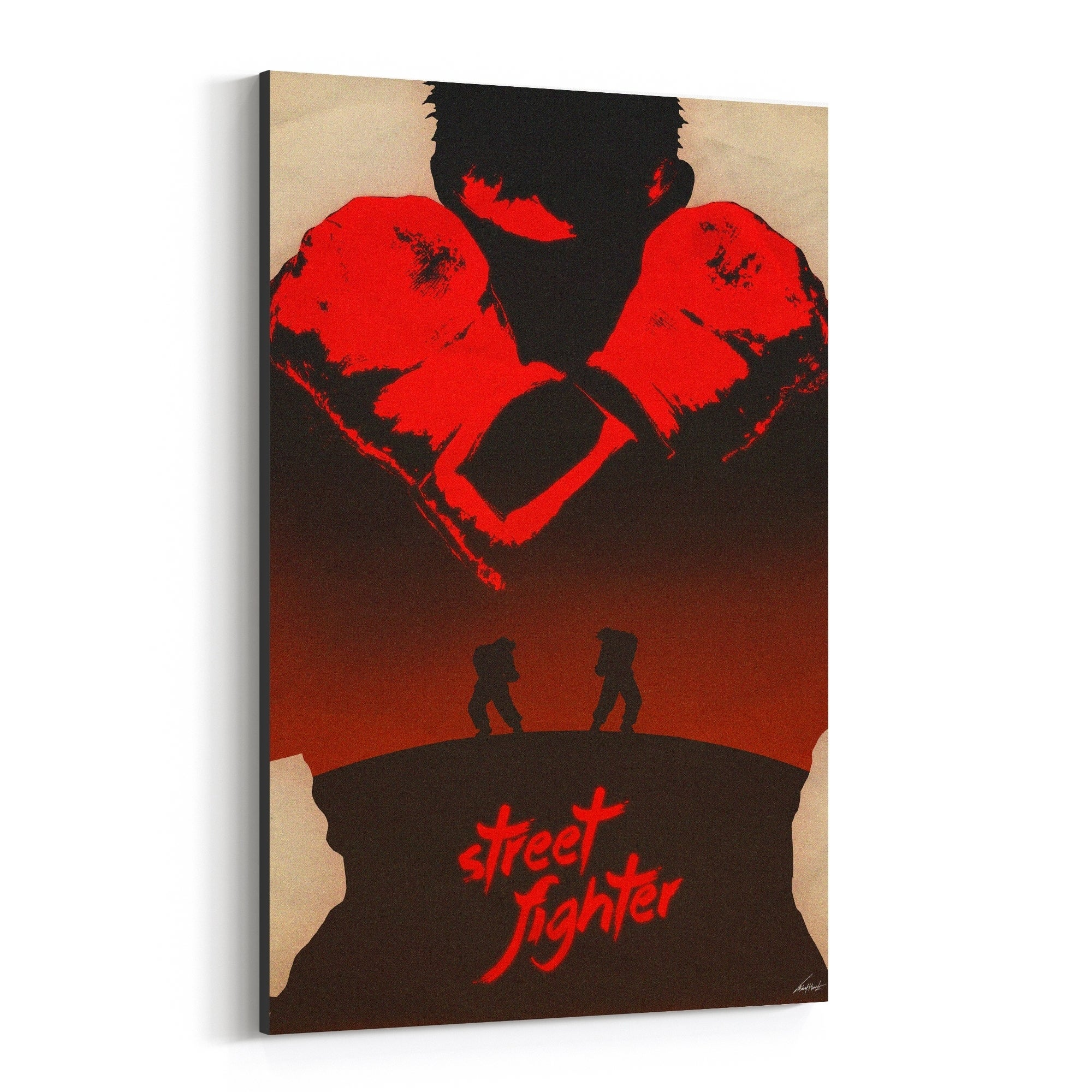 Shop Noir Gallery Street Fighter Video Game Culture Canvas Wall