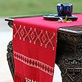 Handmade Cotton table runner 'Summer Wilderness' (Thailand)