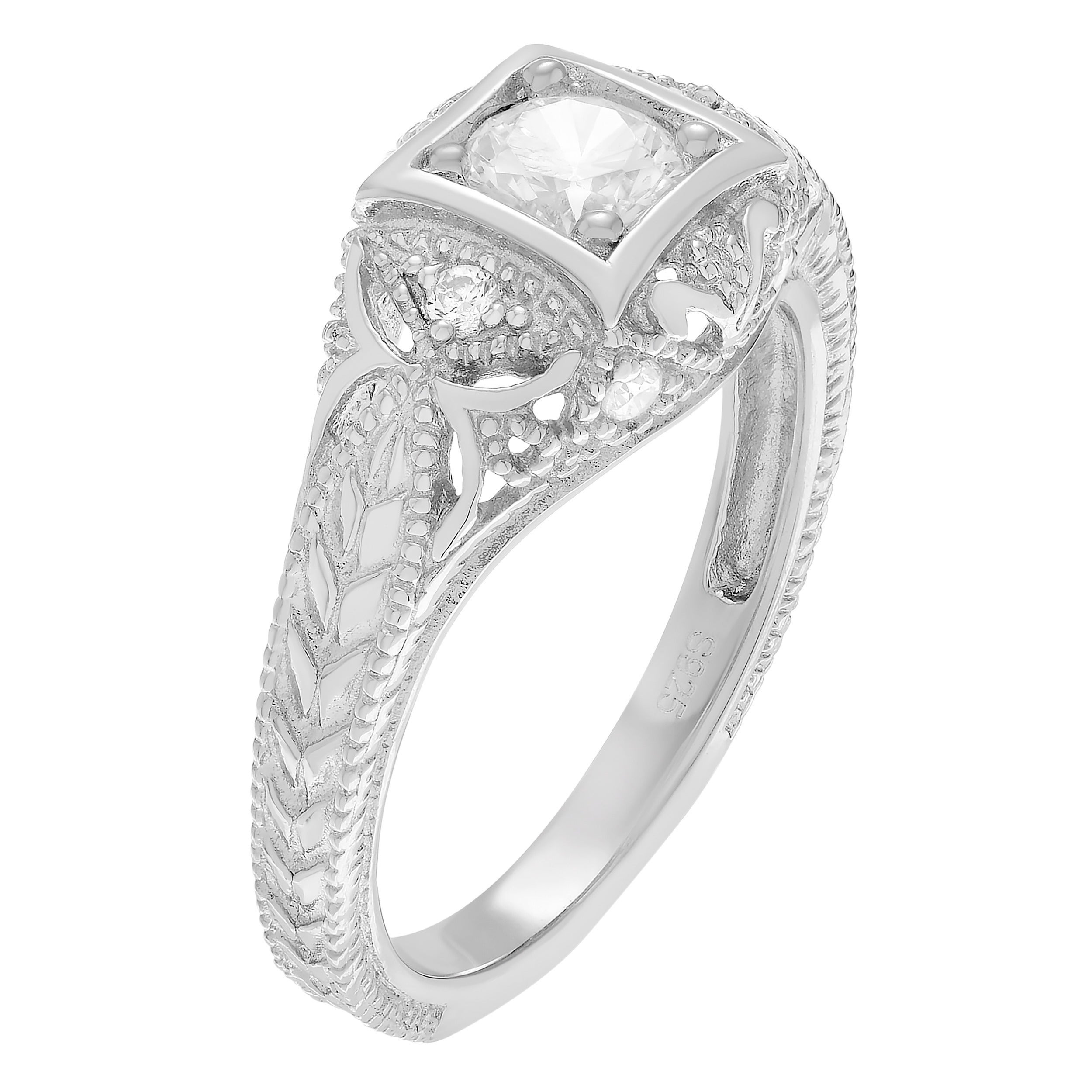 choice dia products hex engagement half a deco feather arrows forever feath side ring in aster rings hexagon jewellery one carat moissanite art round hearts with