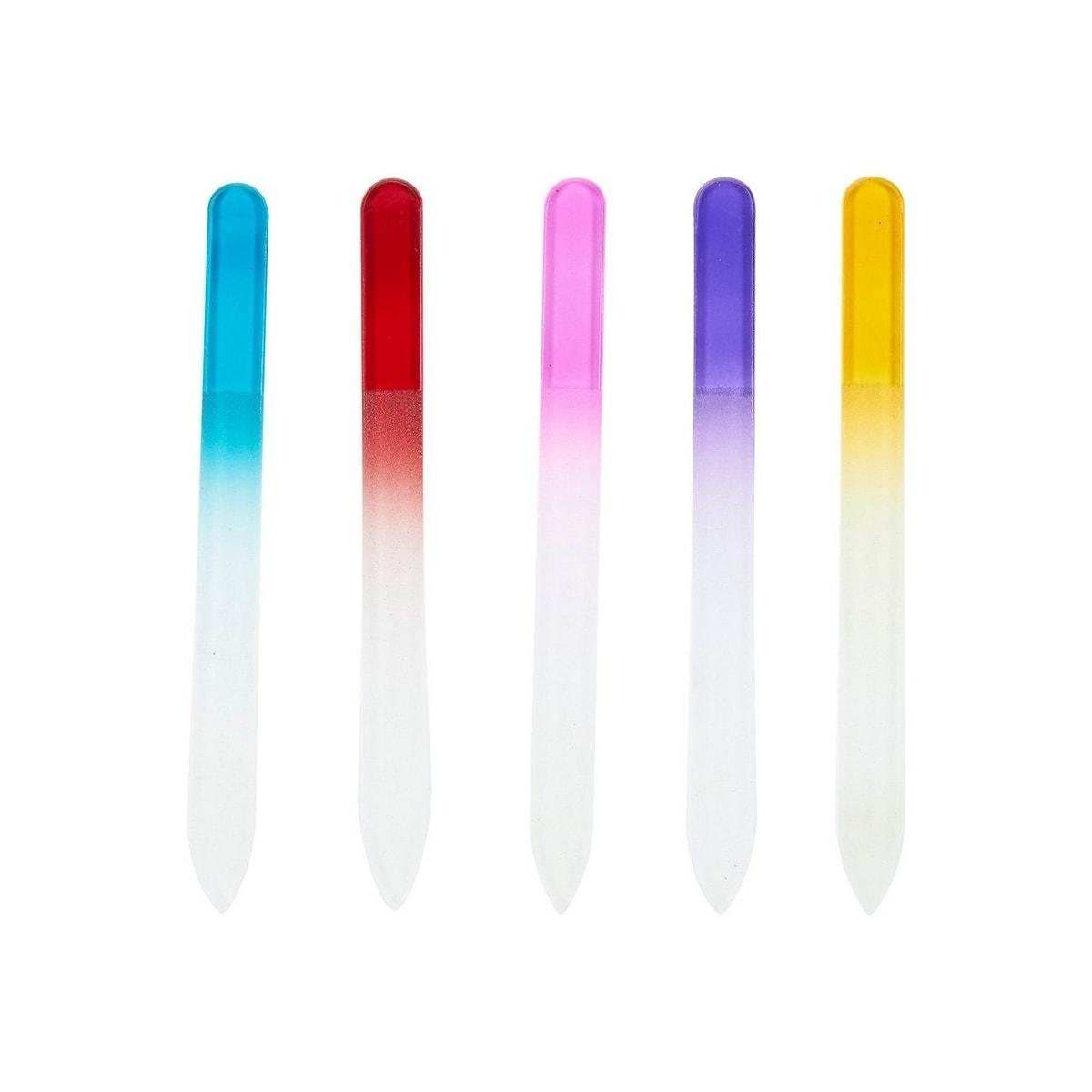 Shop 5 Crystal Glass Nail Files Set for Natural/Acrylic Nails ...