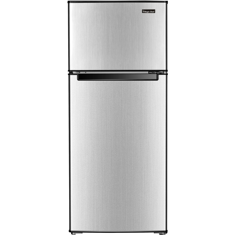 Shop Magic Chef 4 5 Cu Ft Mini Refrigerator With Top Mount Freezer And Stainless Steel Door Overstock 28736118