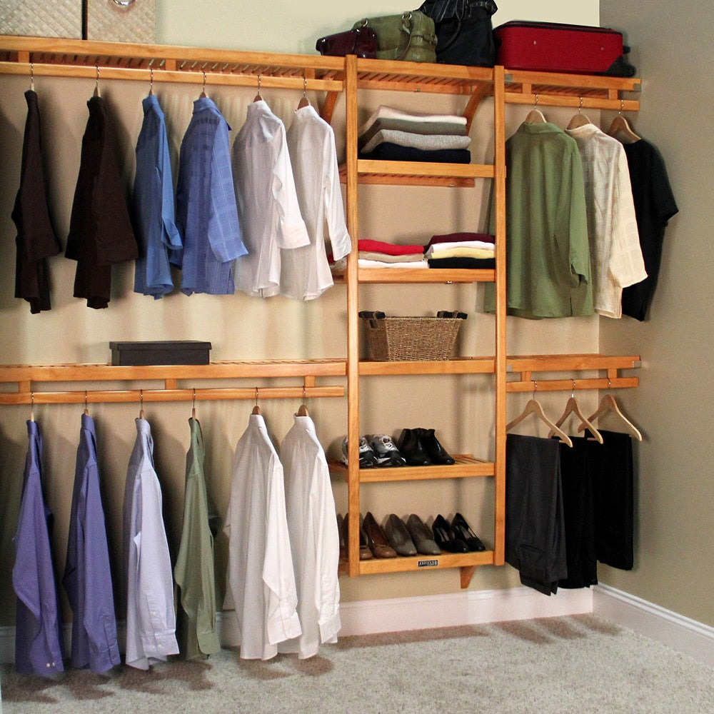 Genial Shop John Louis Standard Solid Wood Closet System   Free Shipping Today    Overstock.com   2876694